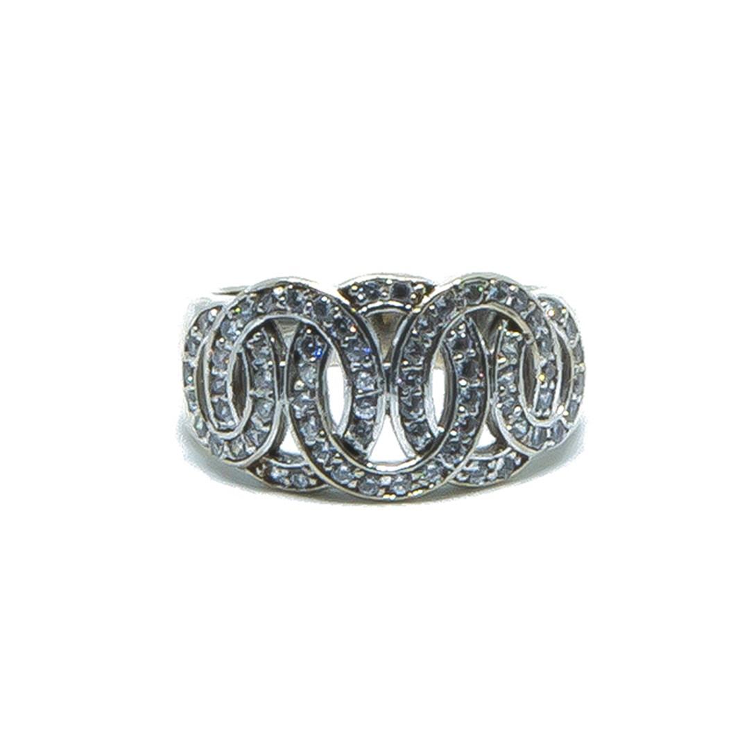 Ring witgoud met cirkels en zirkonia-1