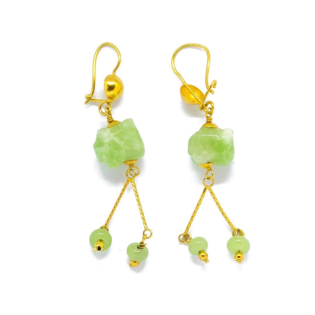 Oorbellen met jade stenen-1