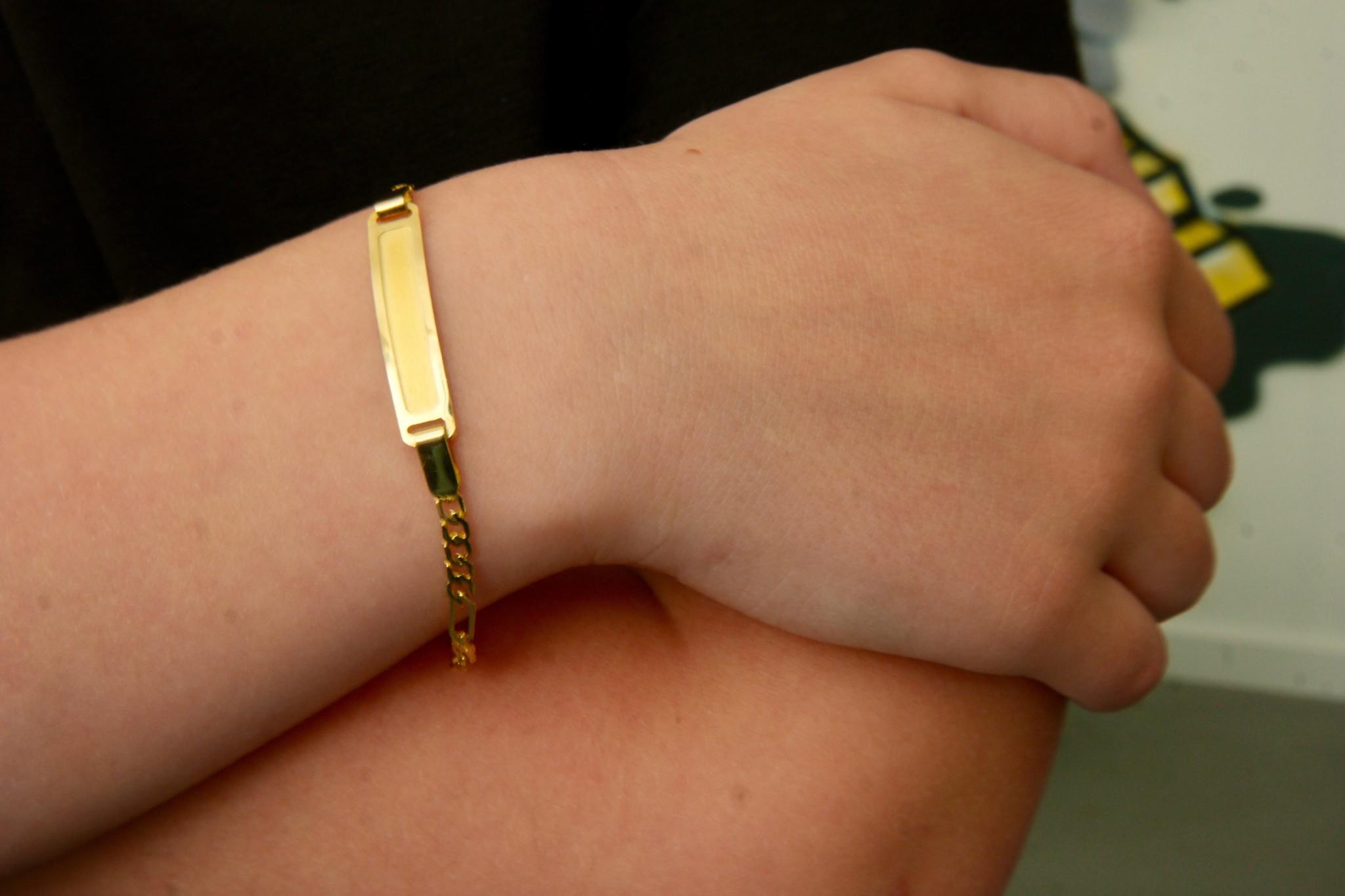 Armband schakel met naamplaatje kind-4