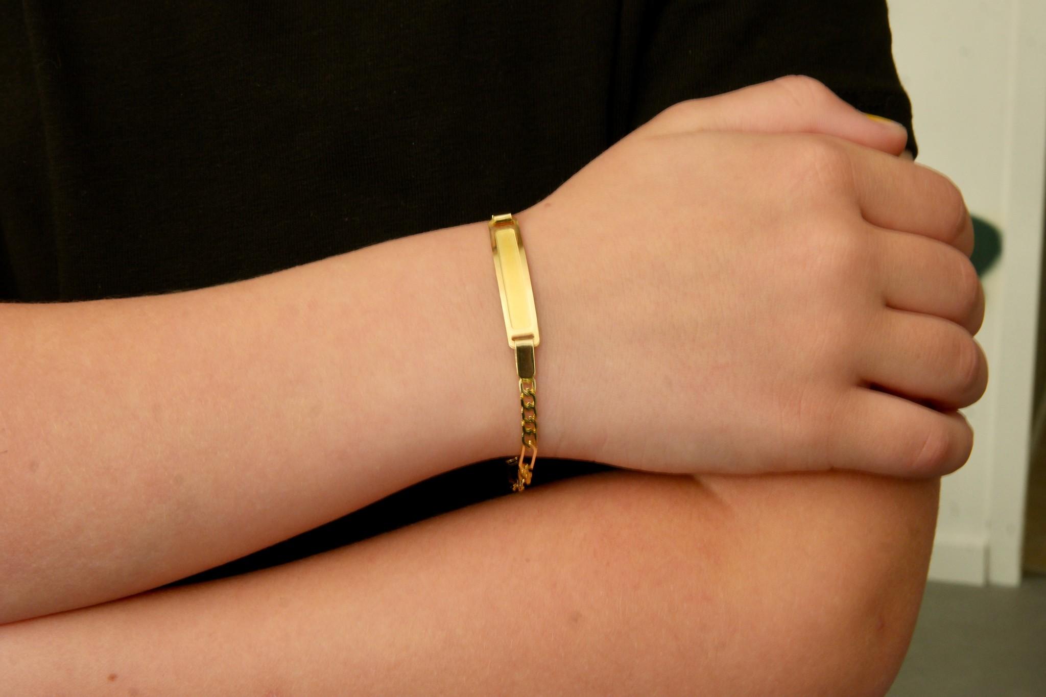 Armband schakel met naamplaatje kind-2
