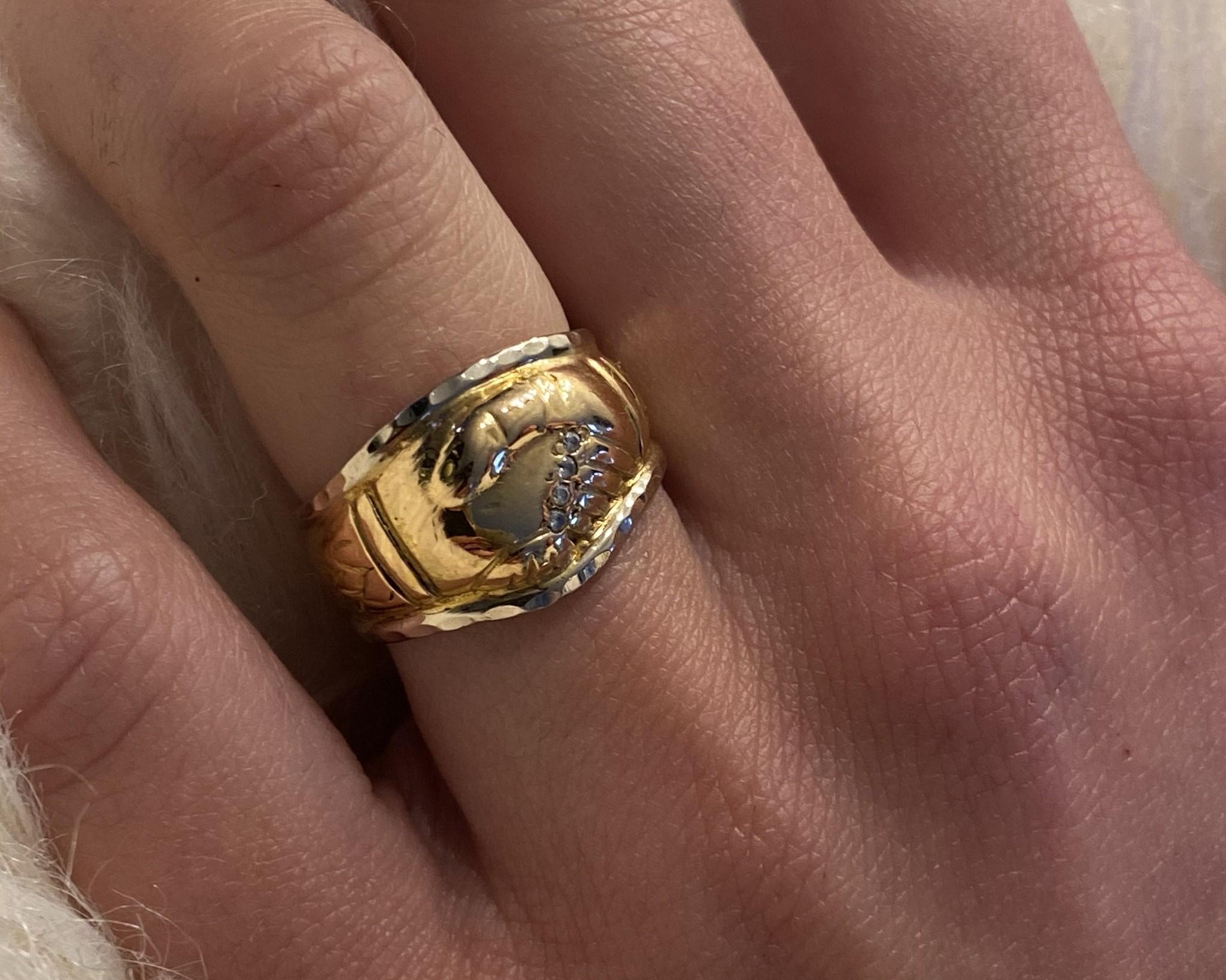 Ring vriendschap met diamantjes-2