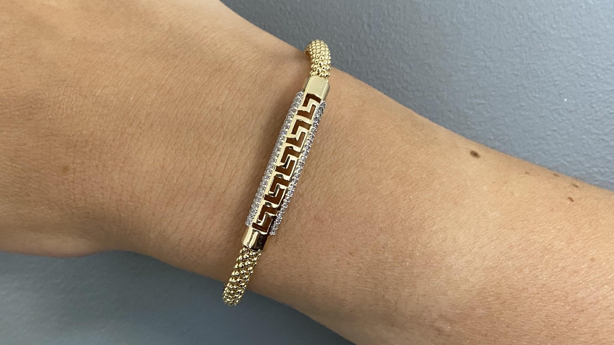 Armband halve slavenband versace met zirkonia's en flexibele boto ketti-2