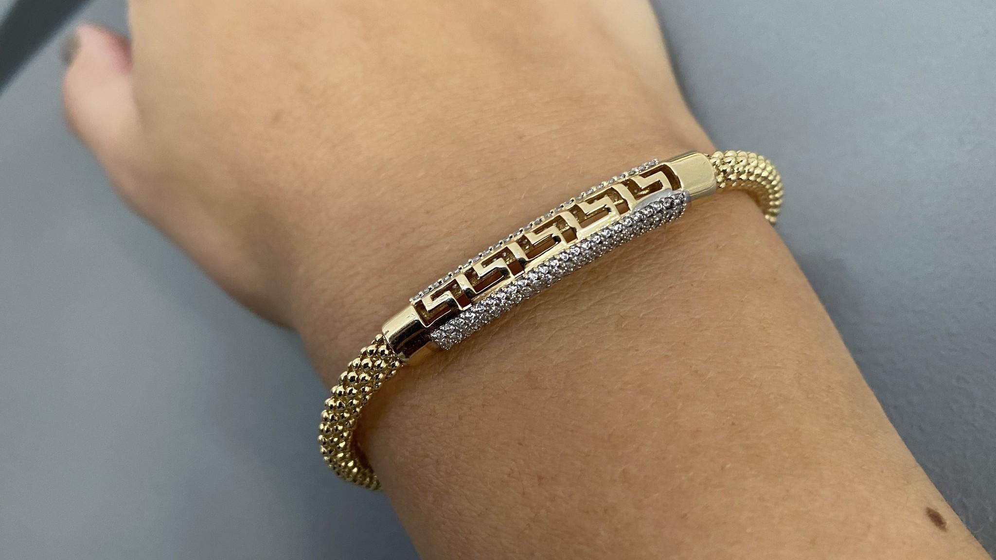 Armband halve slavenband versace met zirkonia's en flexibele boto ketti-4