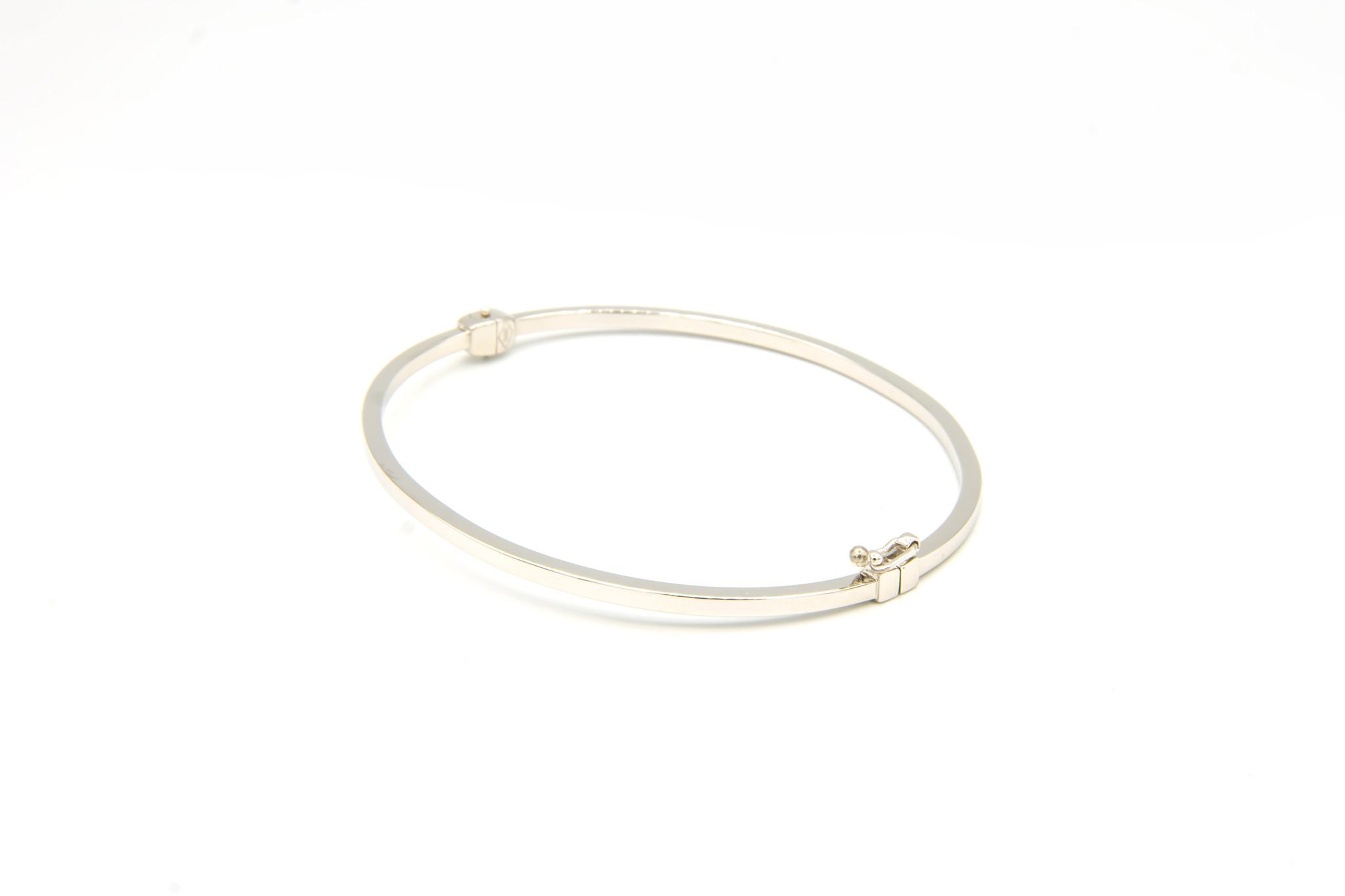 Armband slavenband glad witgoud-3