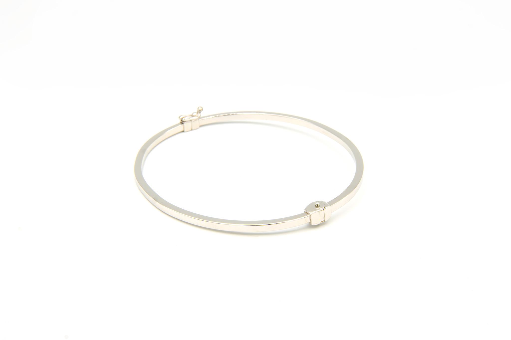 Armband slavenband glad witgoud-6