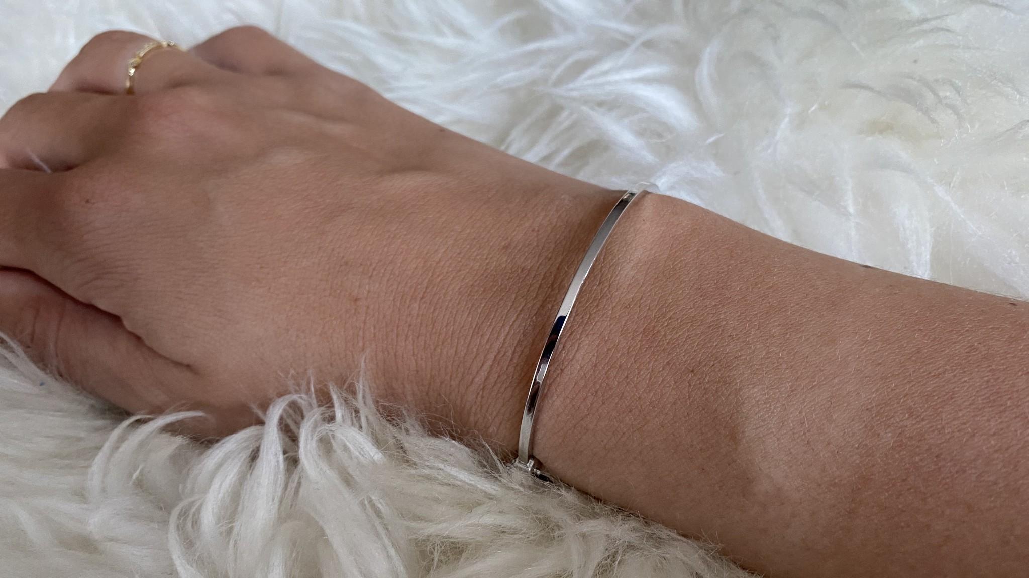 Armband slavenband glad witgoud-2