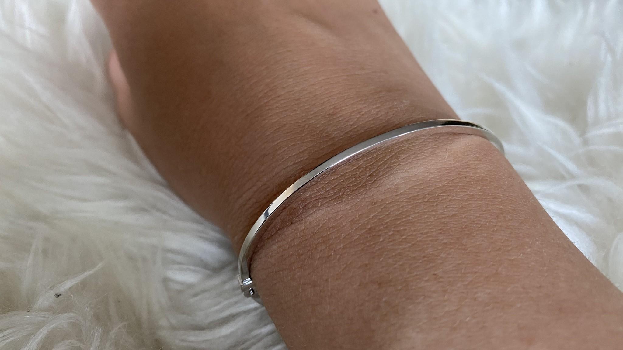 Armband slavenband glad witgoud-4