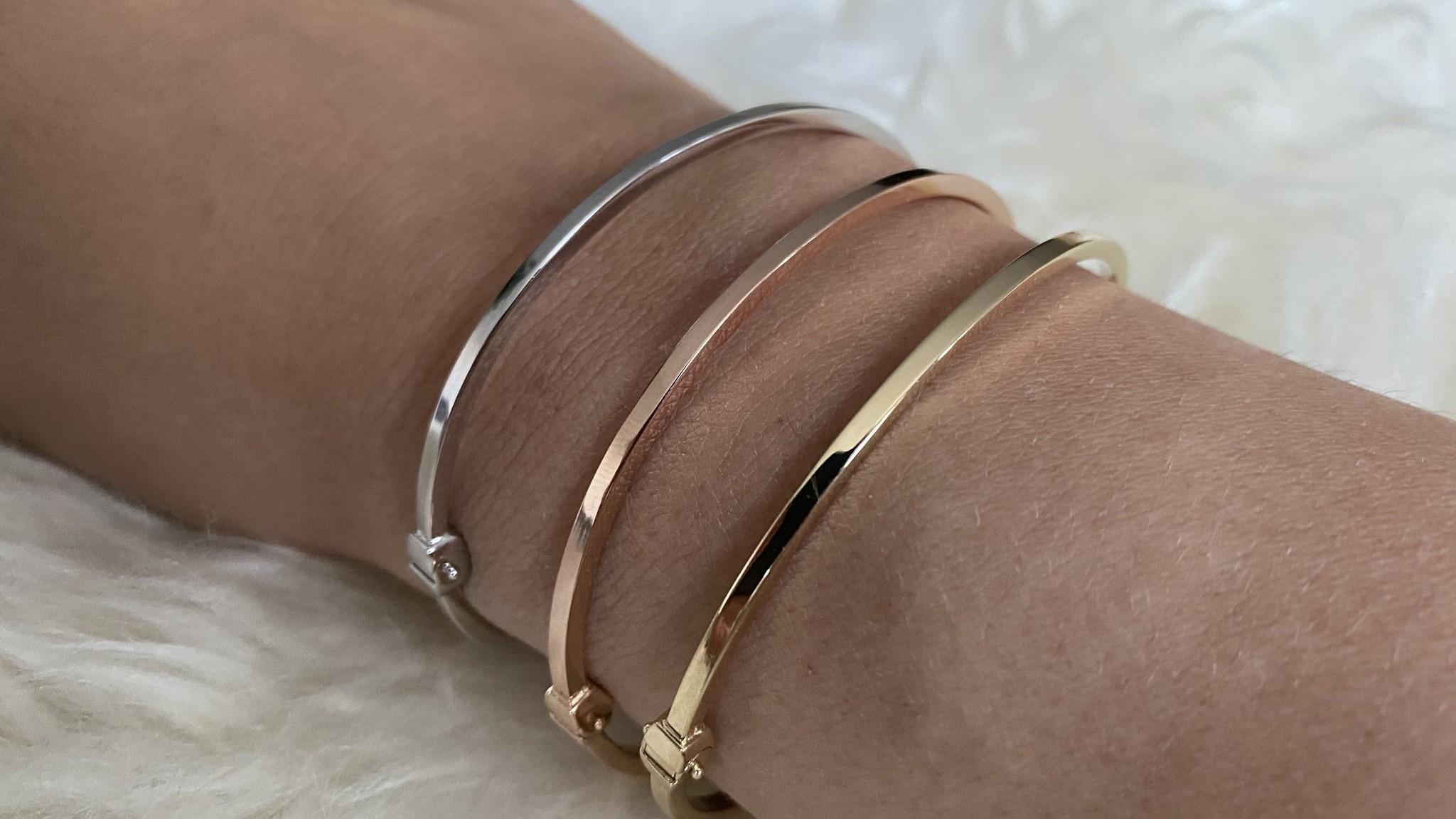 Armband slavenband glad witgoud-7