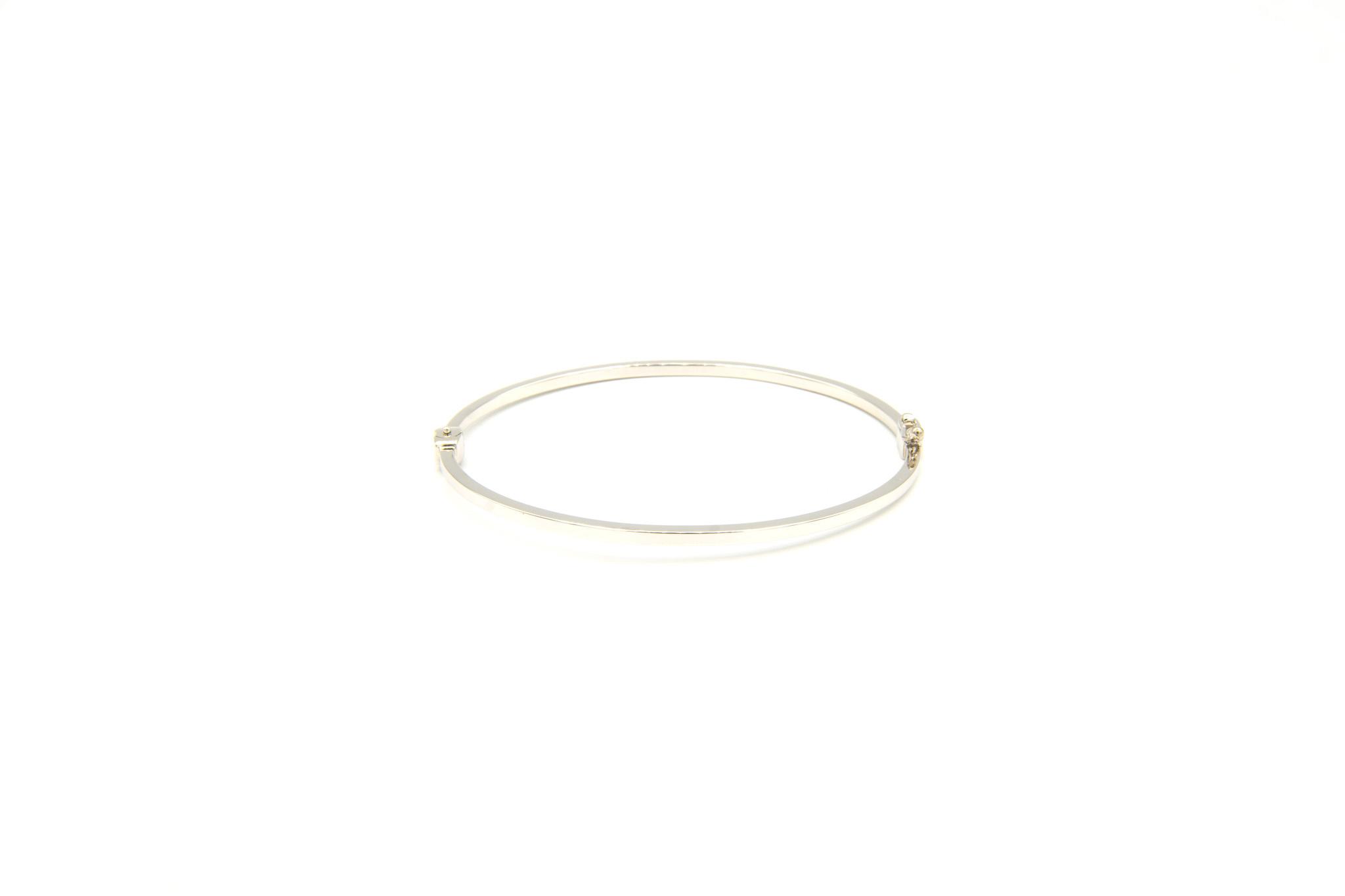 Armband slavenband glad witgoud-1