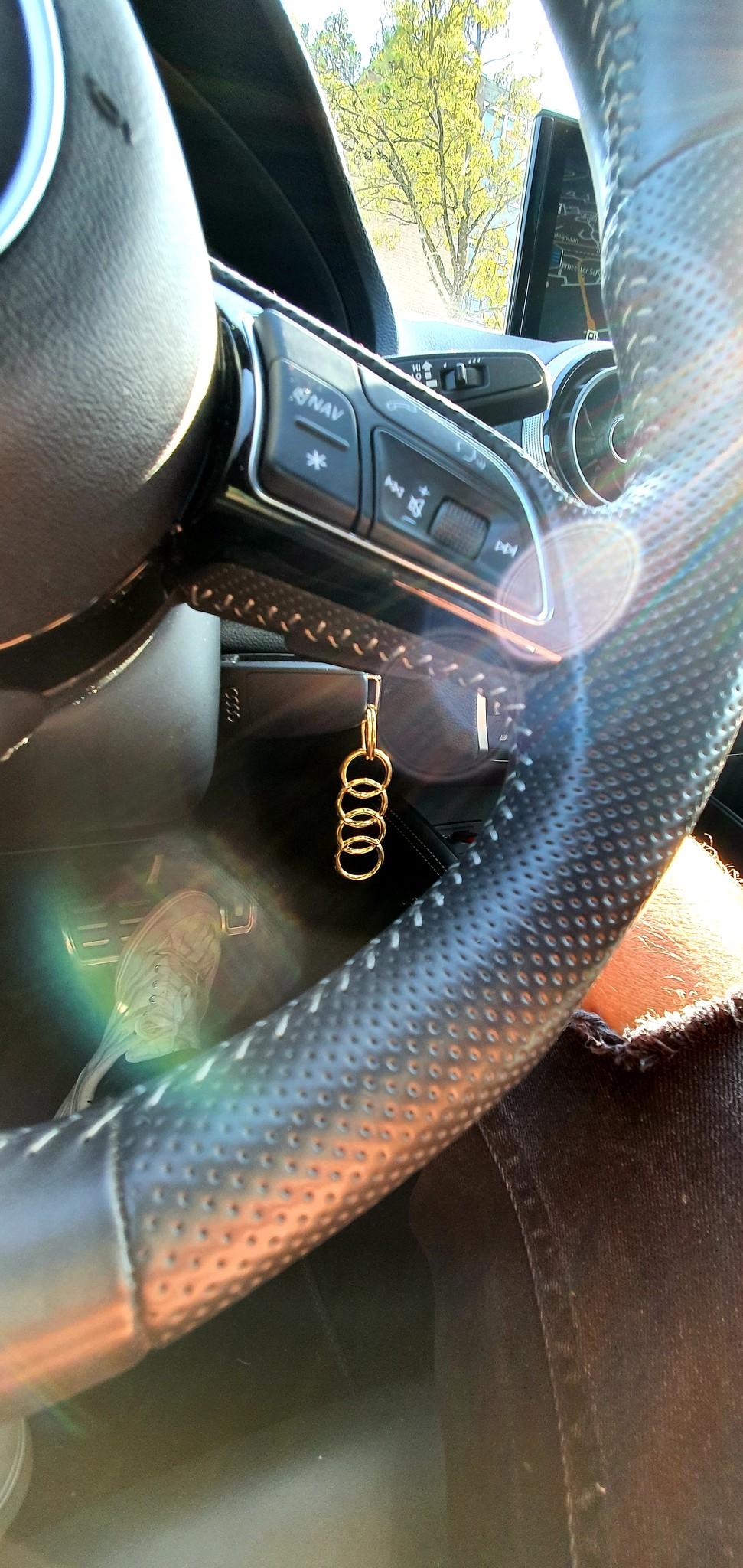 14 of 18 Karaat gouden Sleutelhanger met Audi logo-2