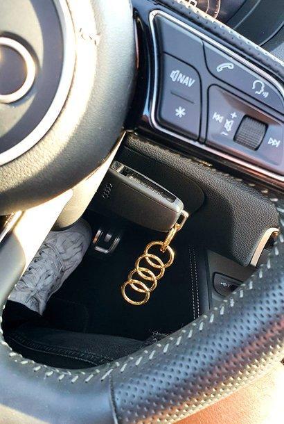 Audi sleutelhanger (goud)