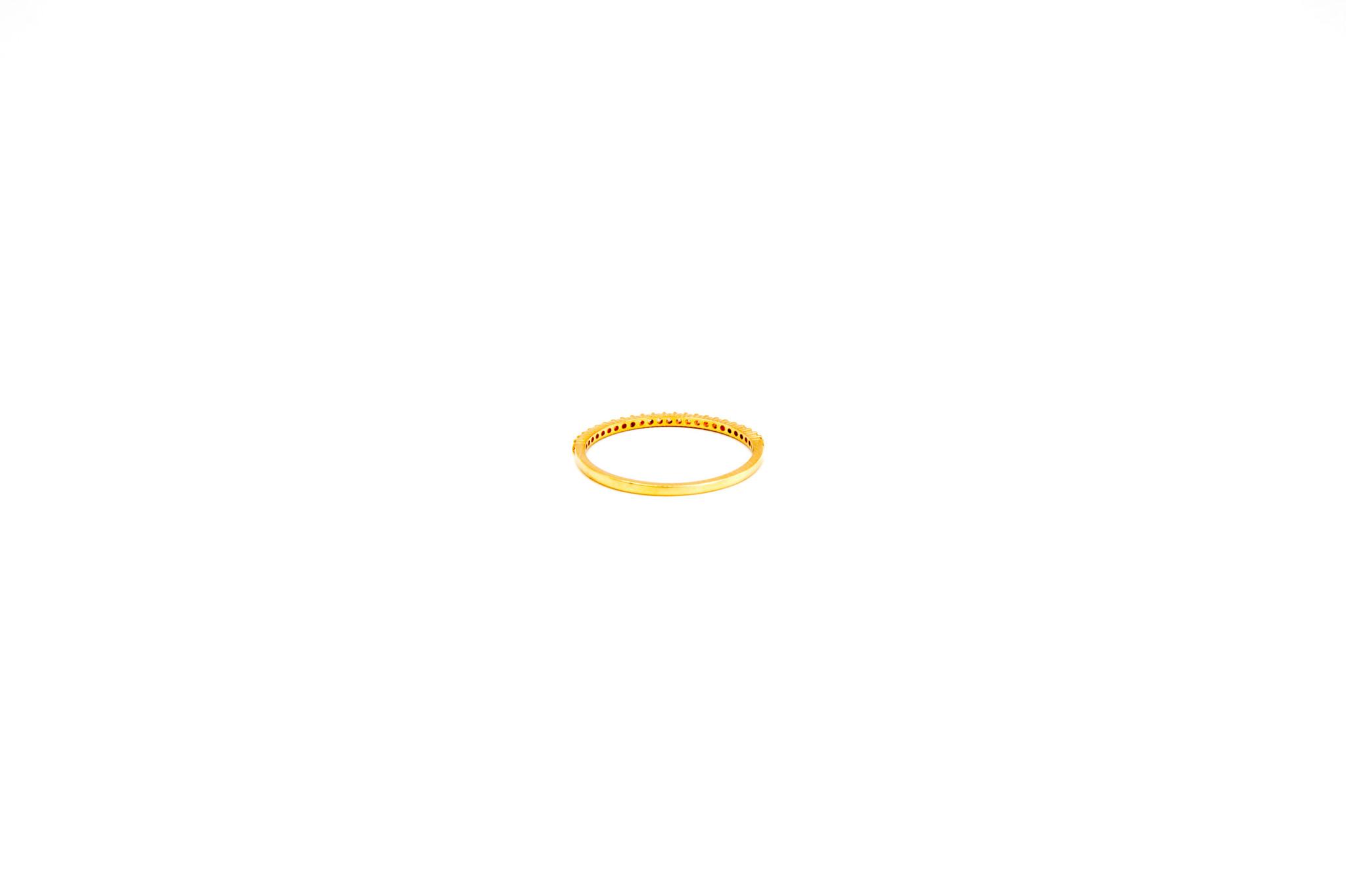 Ring subtiel ingezet met zirkonia's roségoud-3