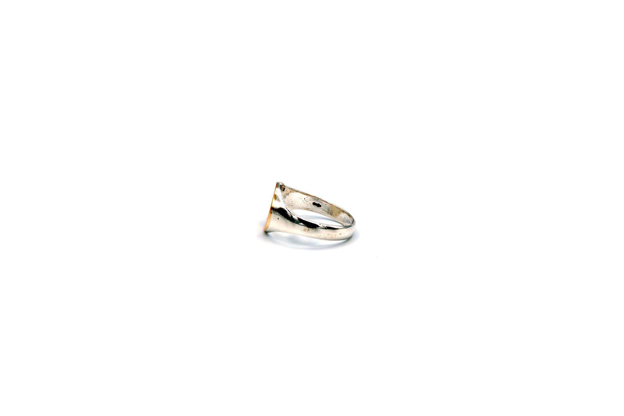 Ring met graveerbare kleine ronde zegel-3