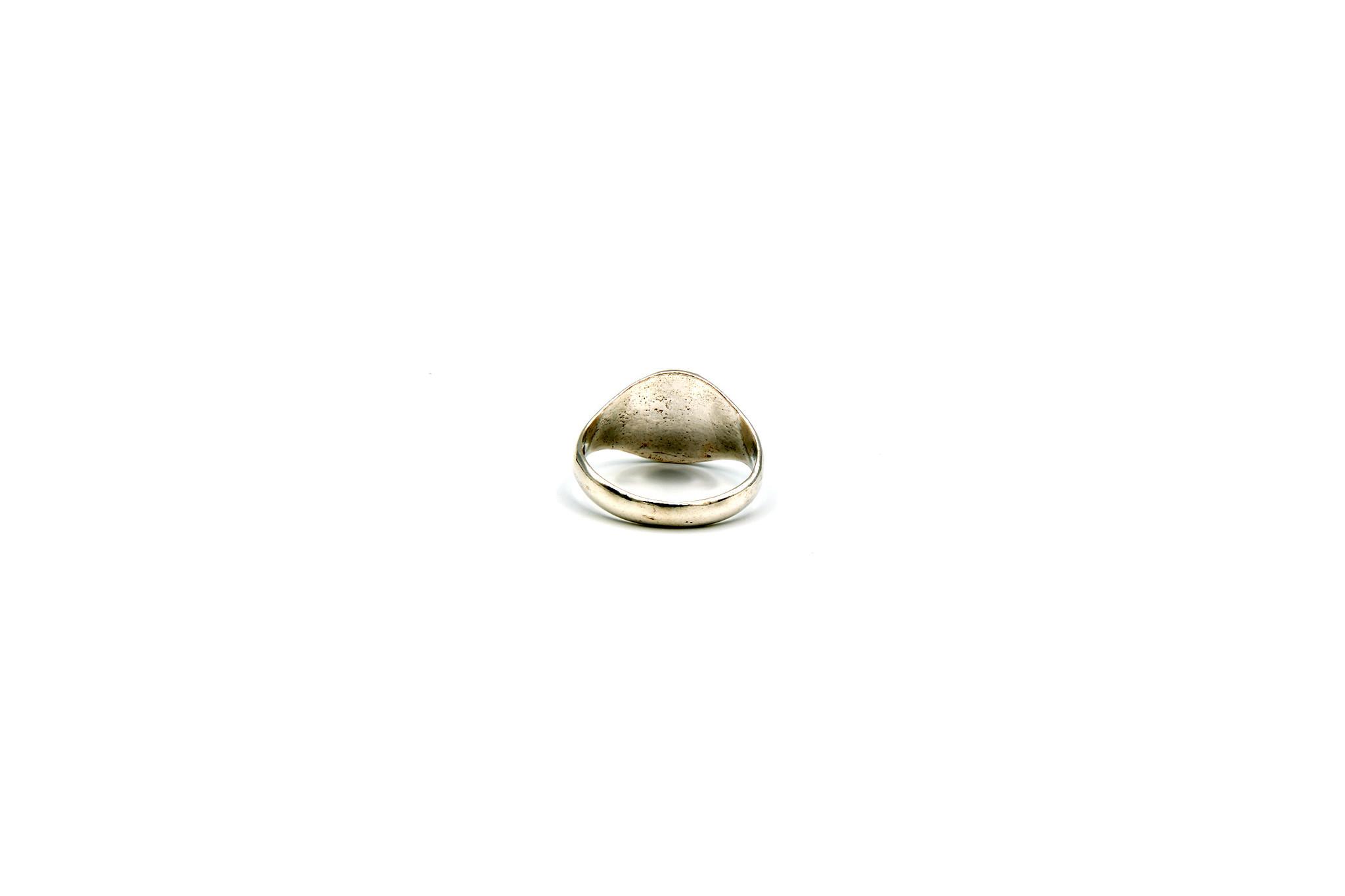 Ring met graveerbare kleine ronde zegel-4