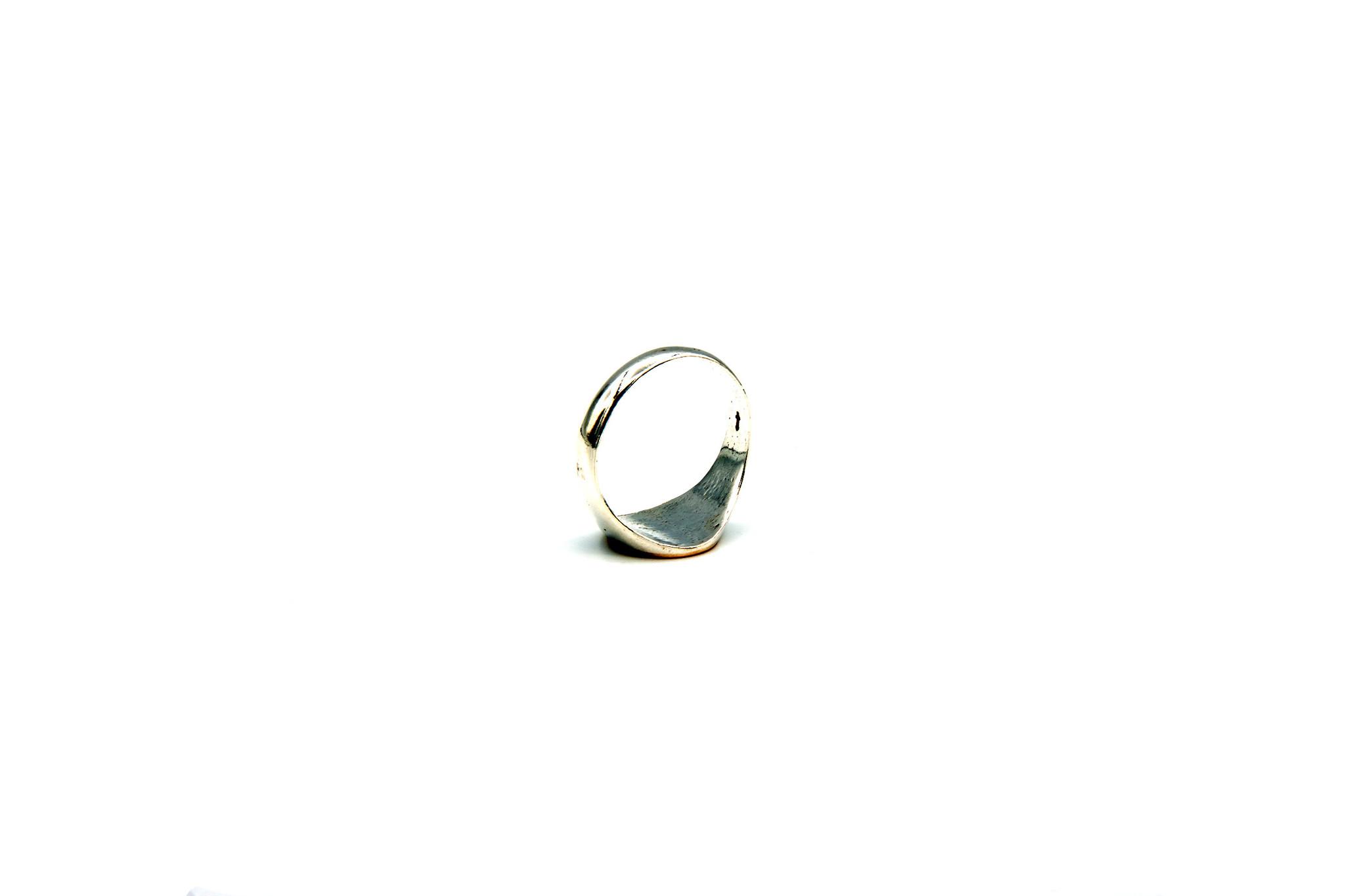 Ring met graveerbare kleine ronde zegel-5