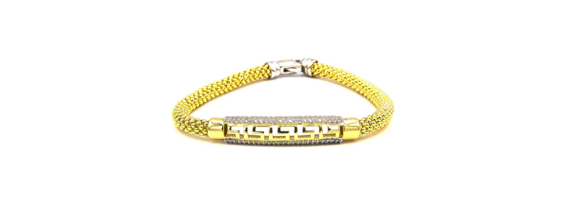 Armband halve slavenband versace met zirkonia's en flexibele boto ketti