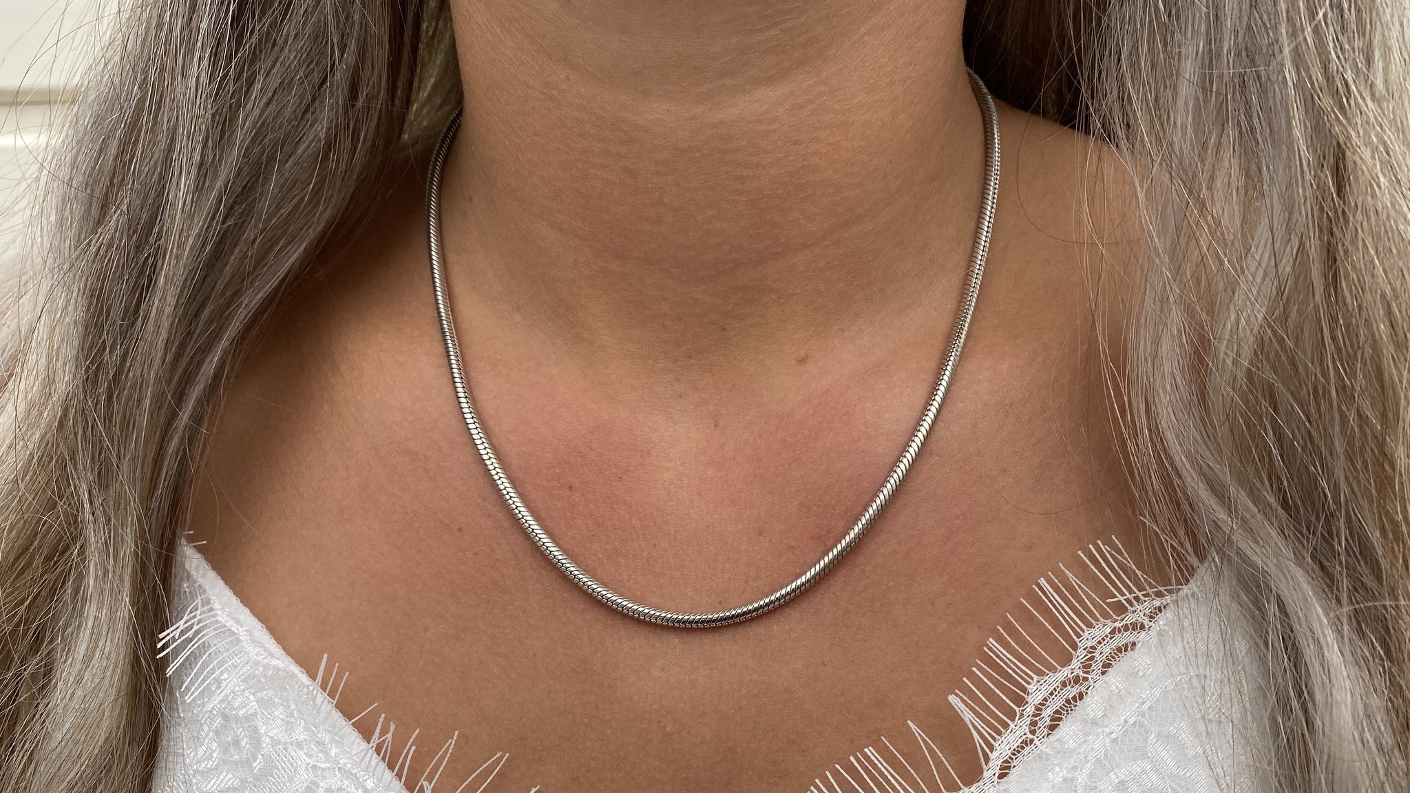 Ketting collier witgoud-1