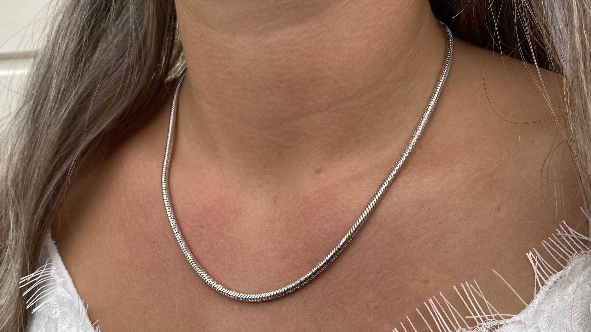 Ketting collier witgoud-2