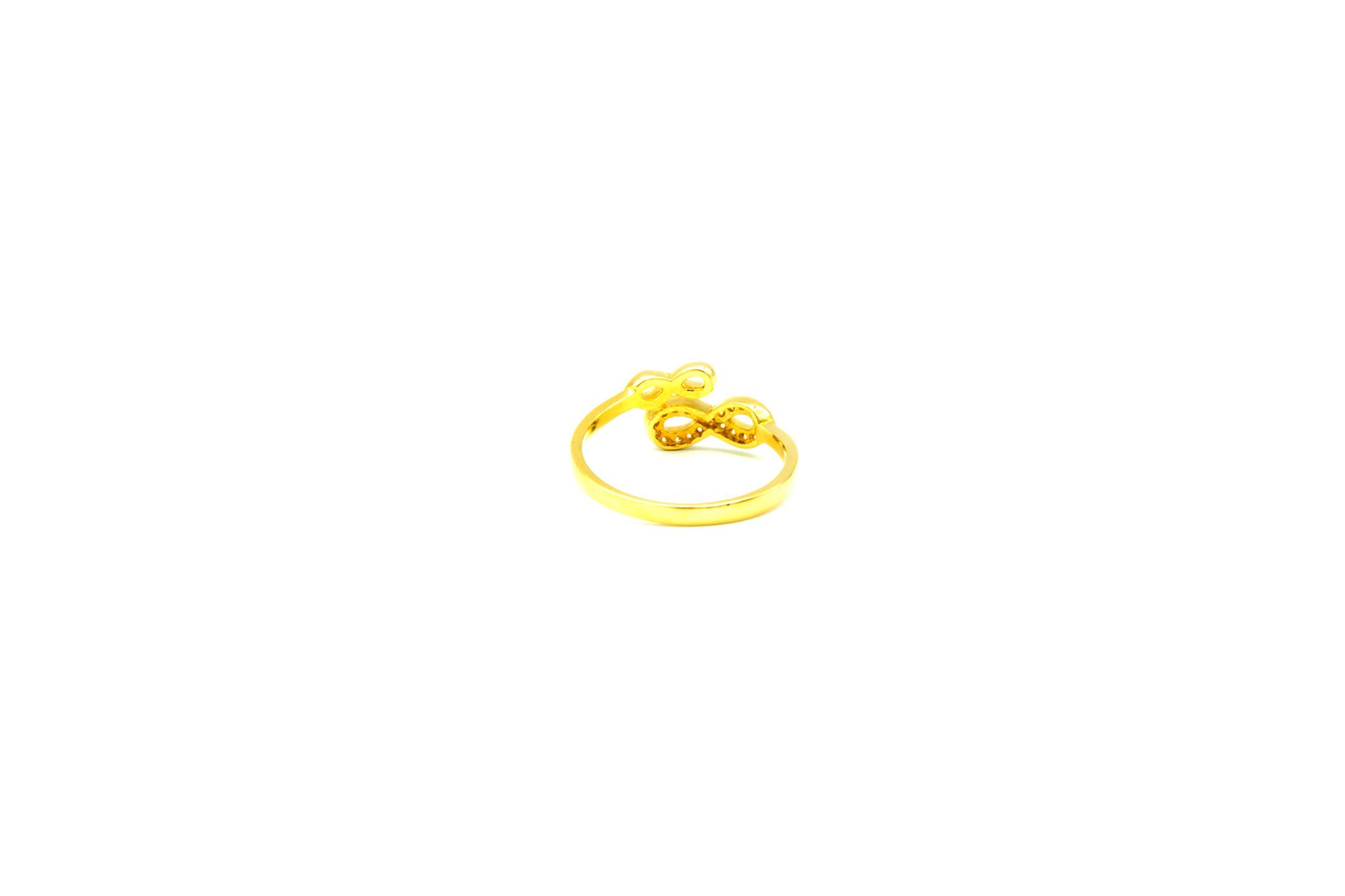 Ring dubbel infintyteken met zirkonia's-3