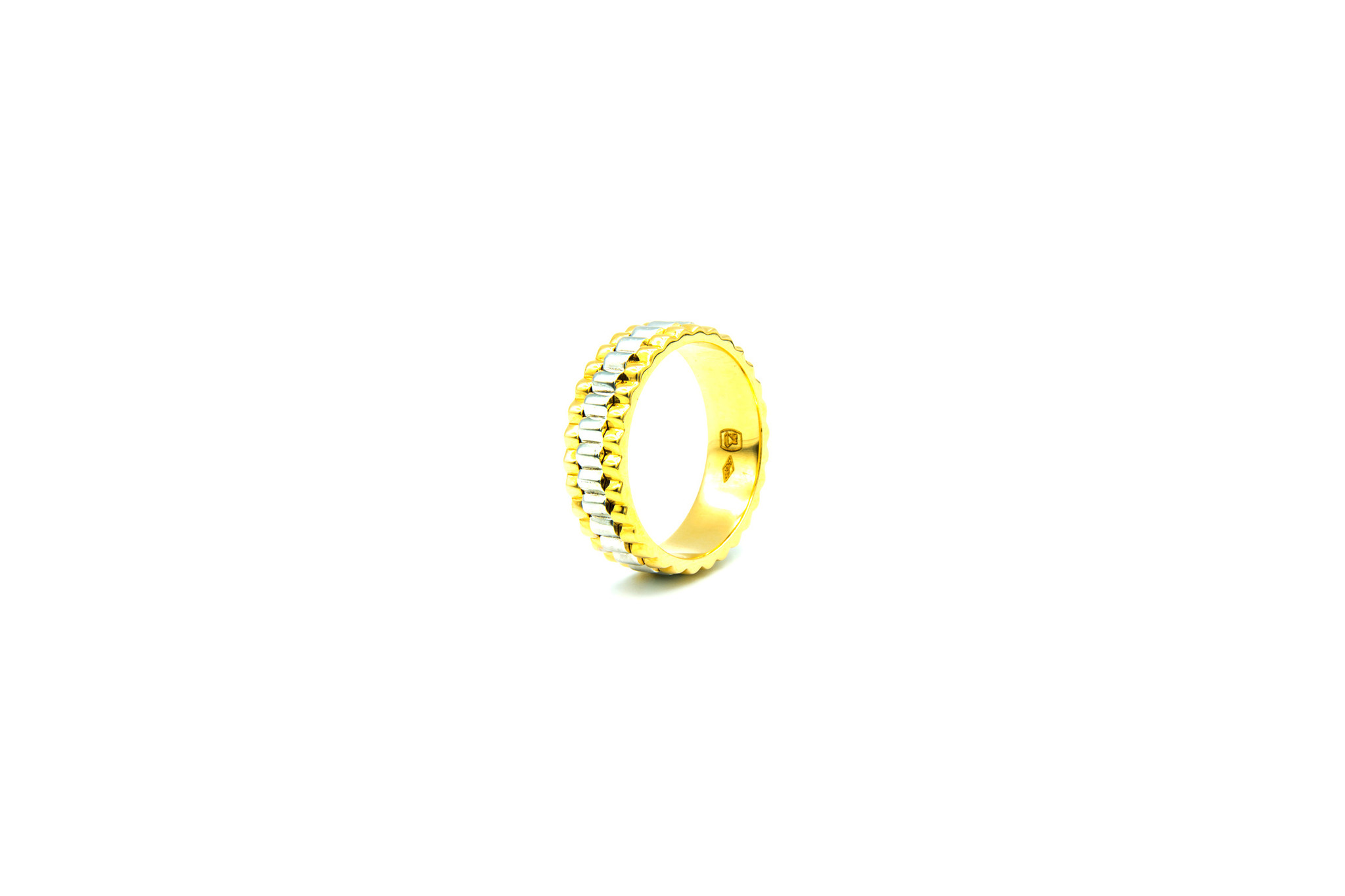 Ring gegolfd bicolor-2
