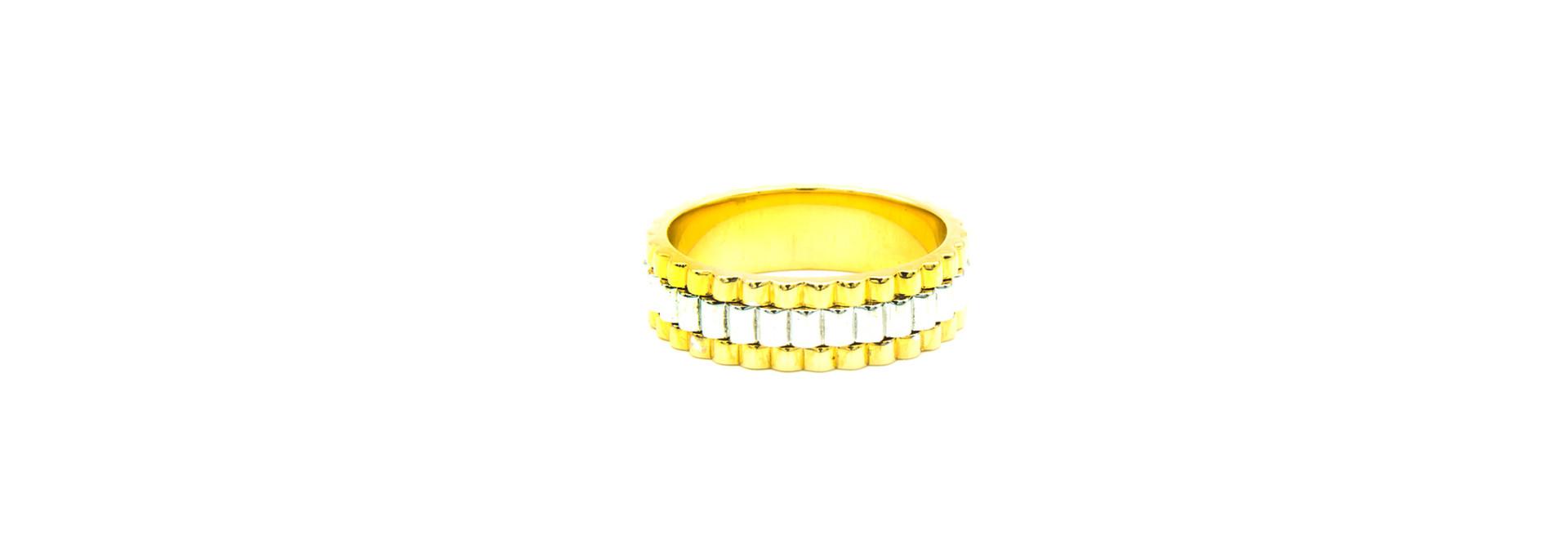 Ring gegolfd bicolor