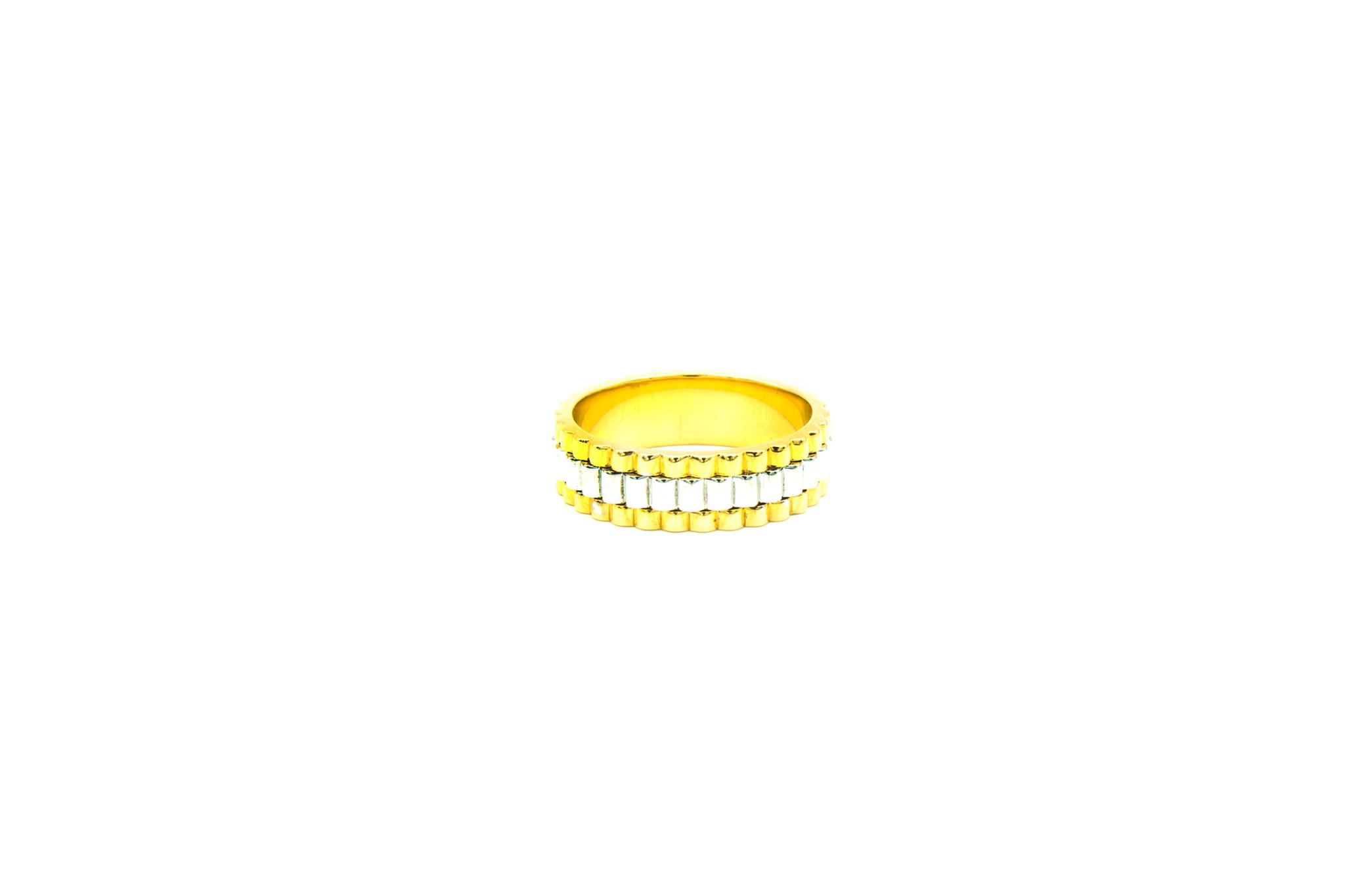 Ring gegolfd bicolor-1
