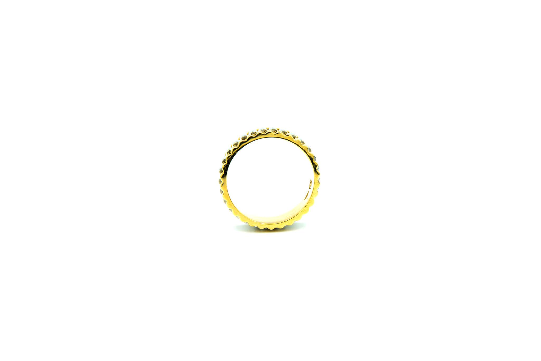 Ring gegolfd bicolor-3