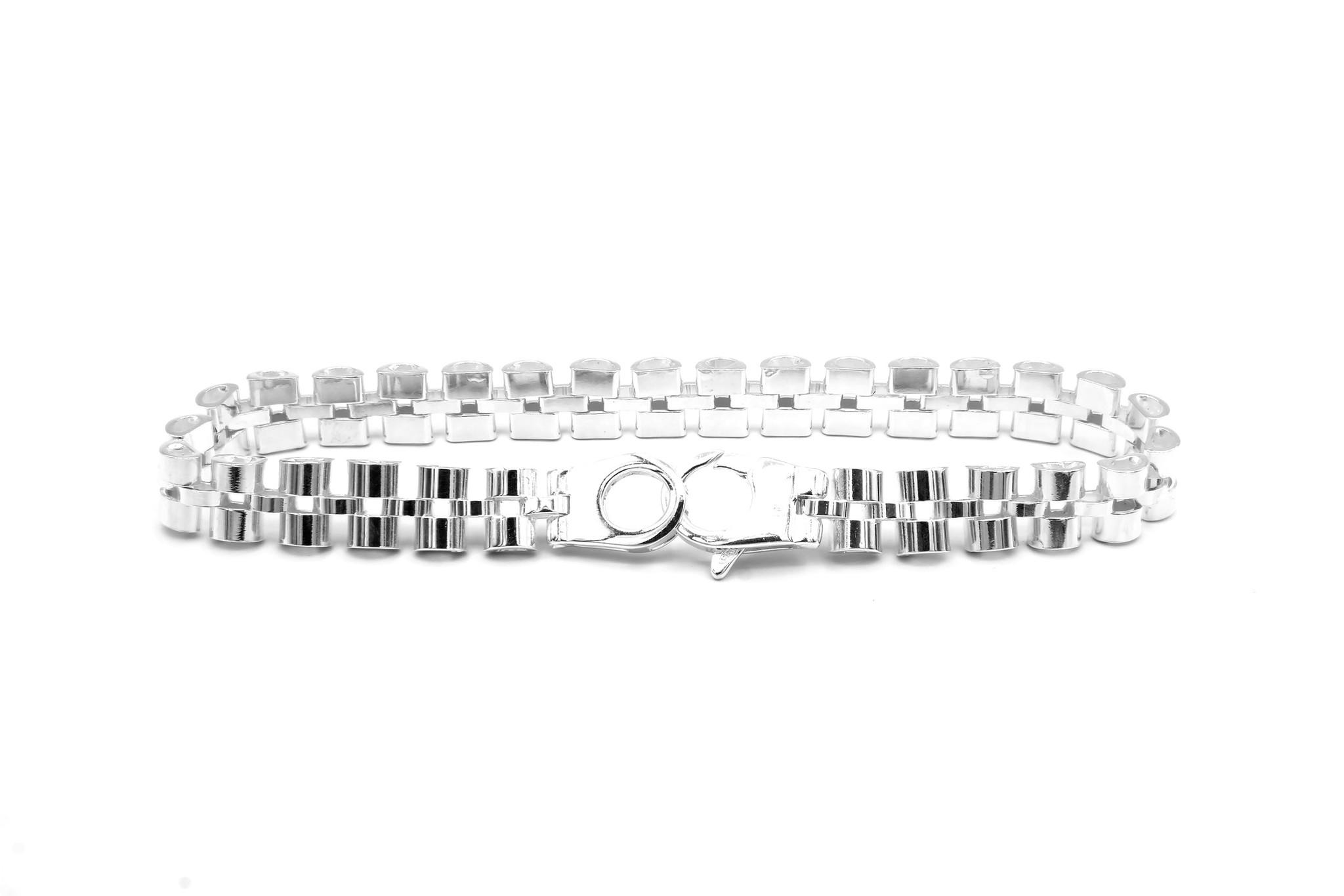 Armband rolexschakel zilver-5