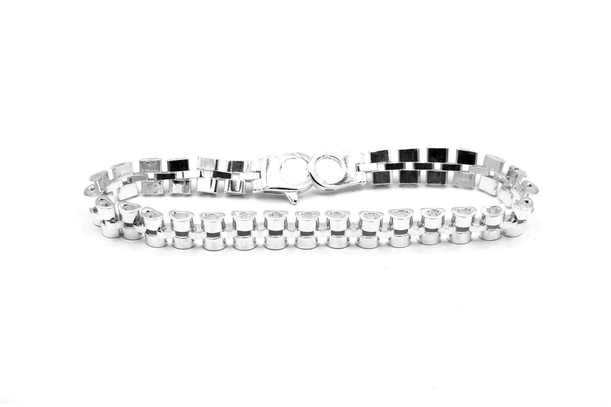 Armband rolexschakel zilver-3