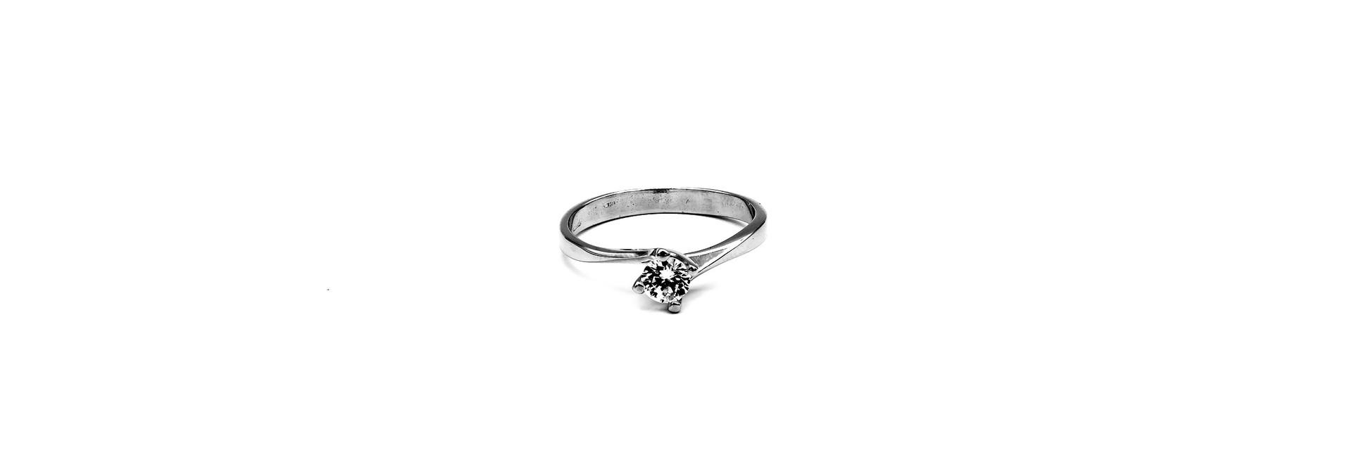 Ring verloving witgoud