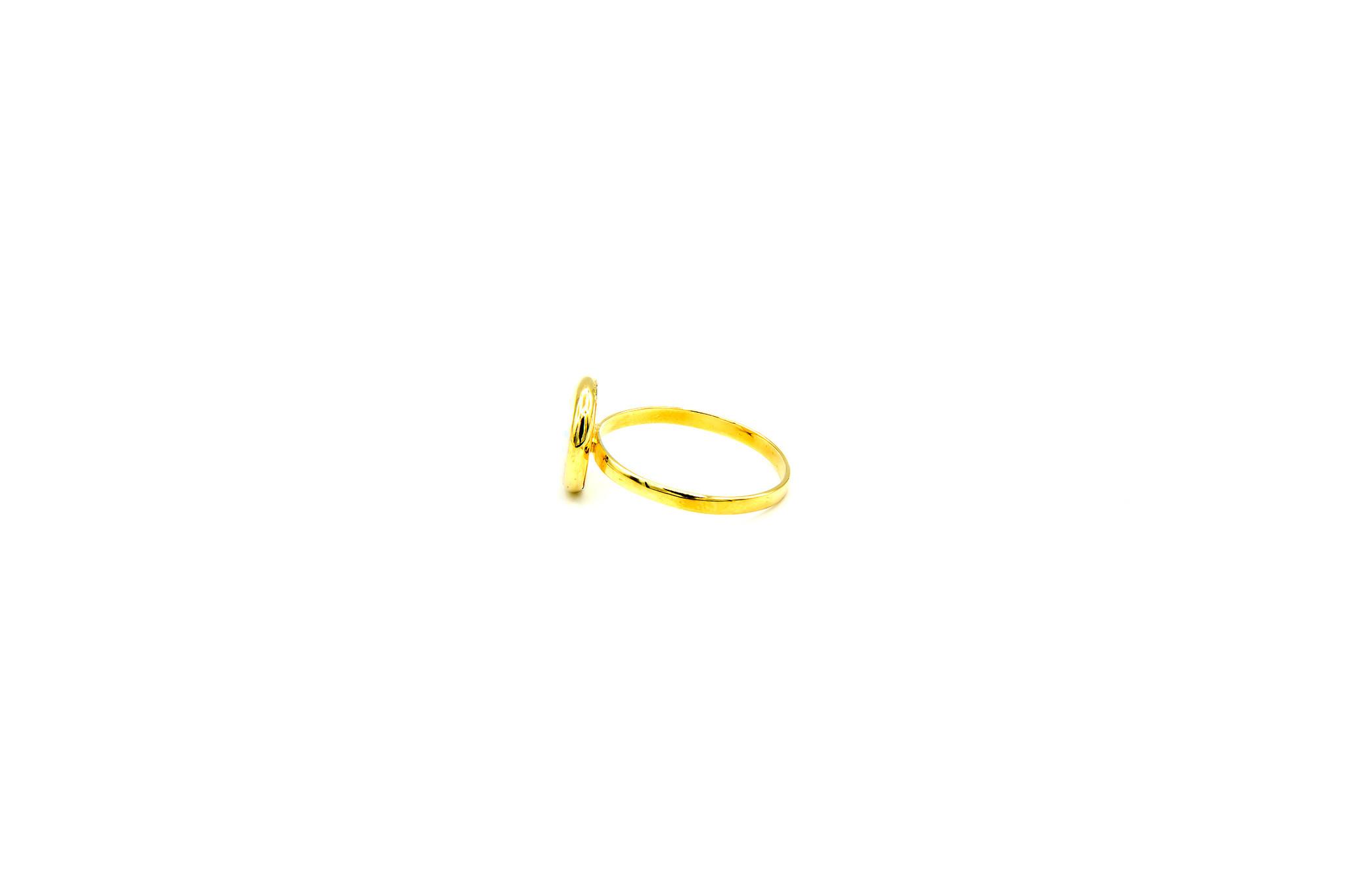 Ring met ronde witte Gilson opaal 9mm-3