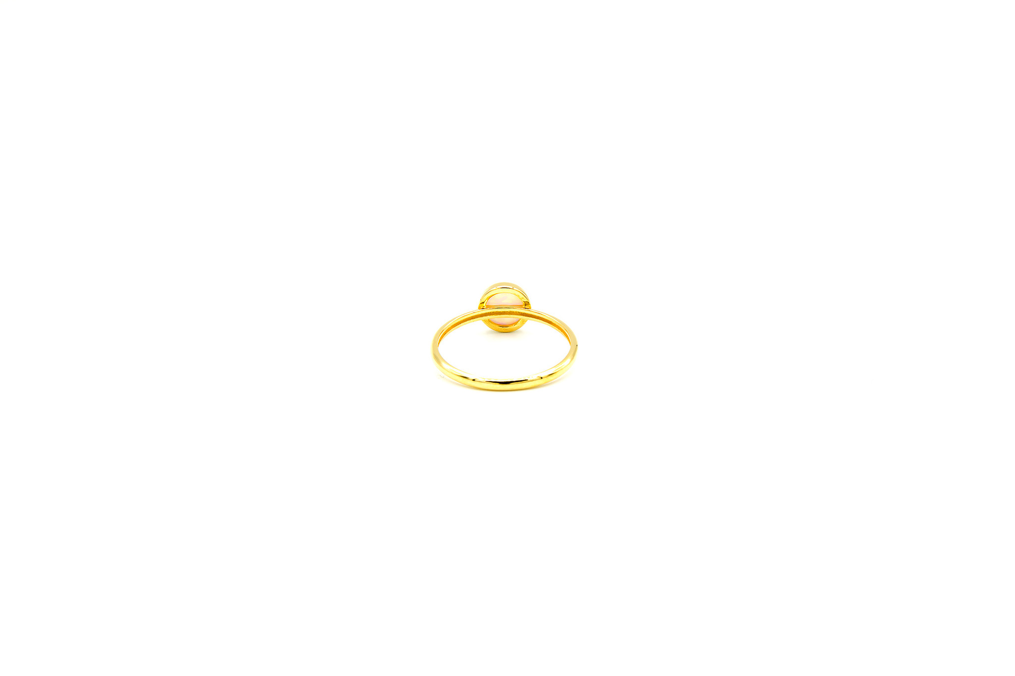Ring met ronde witte Gilson opaal-2