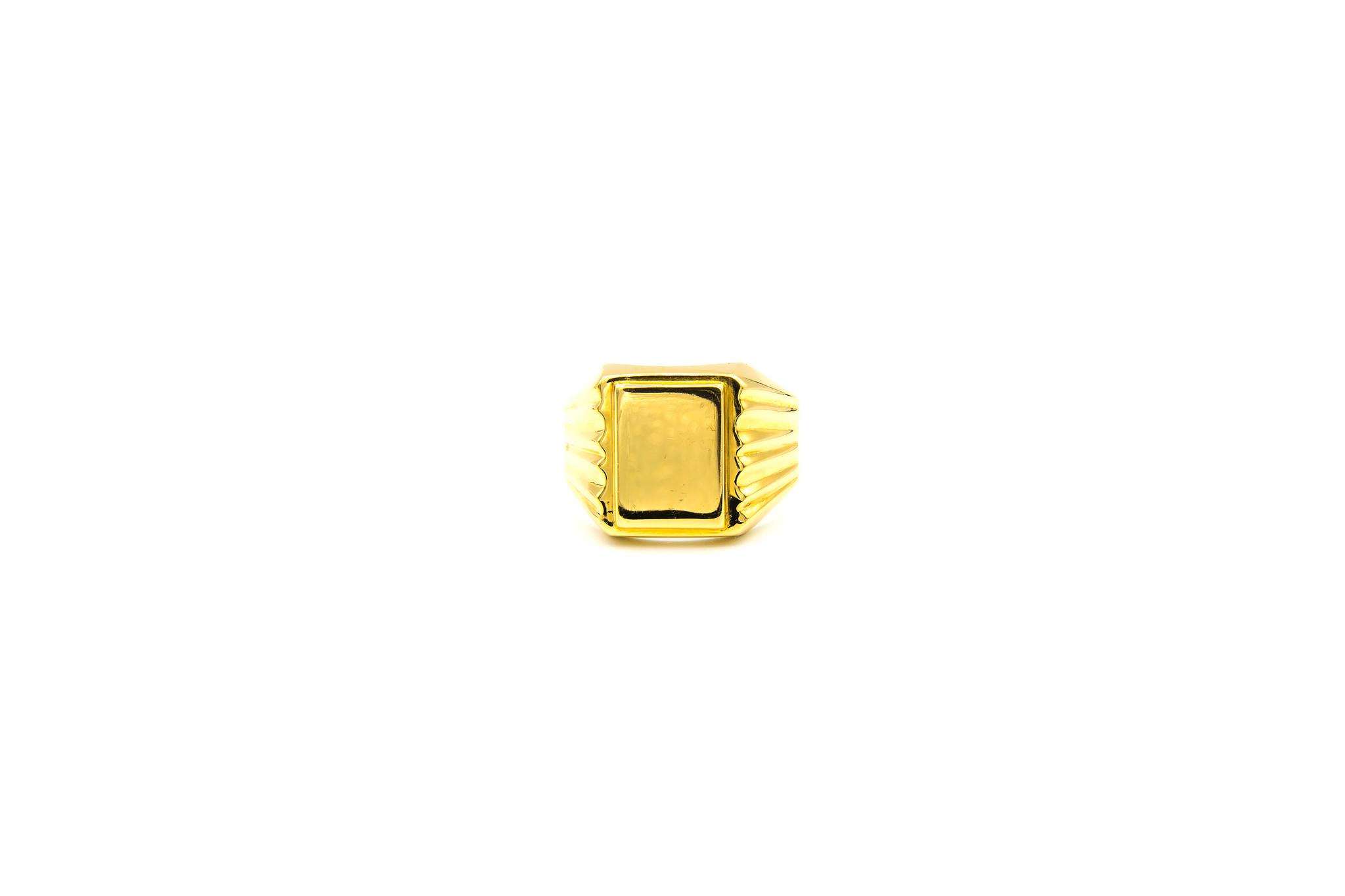 Ring graveerbare zegel met bewerkte band-1