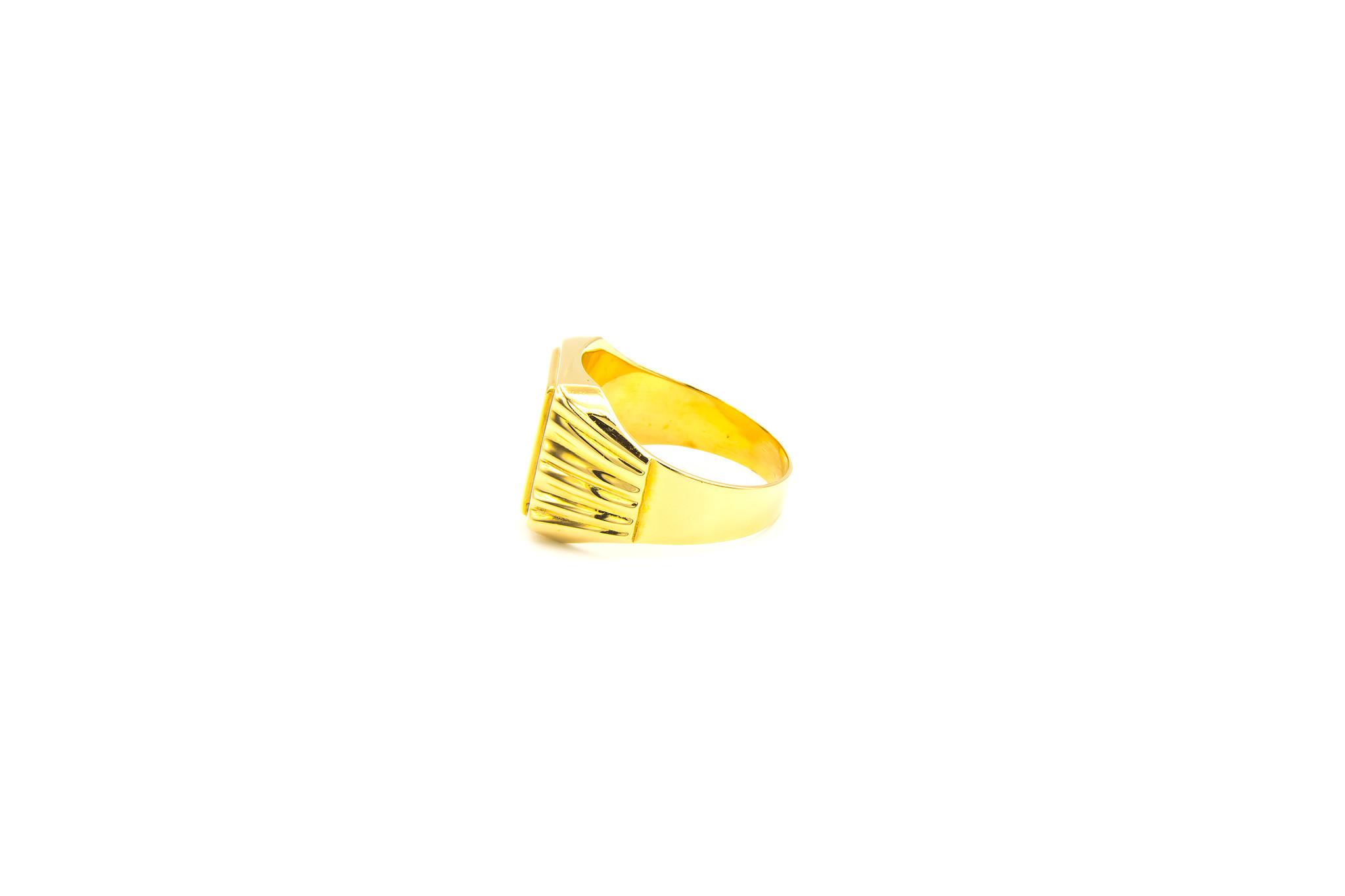 Ring graveerbare zegel met bewerkte band-3