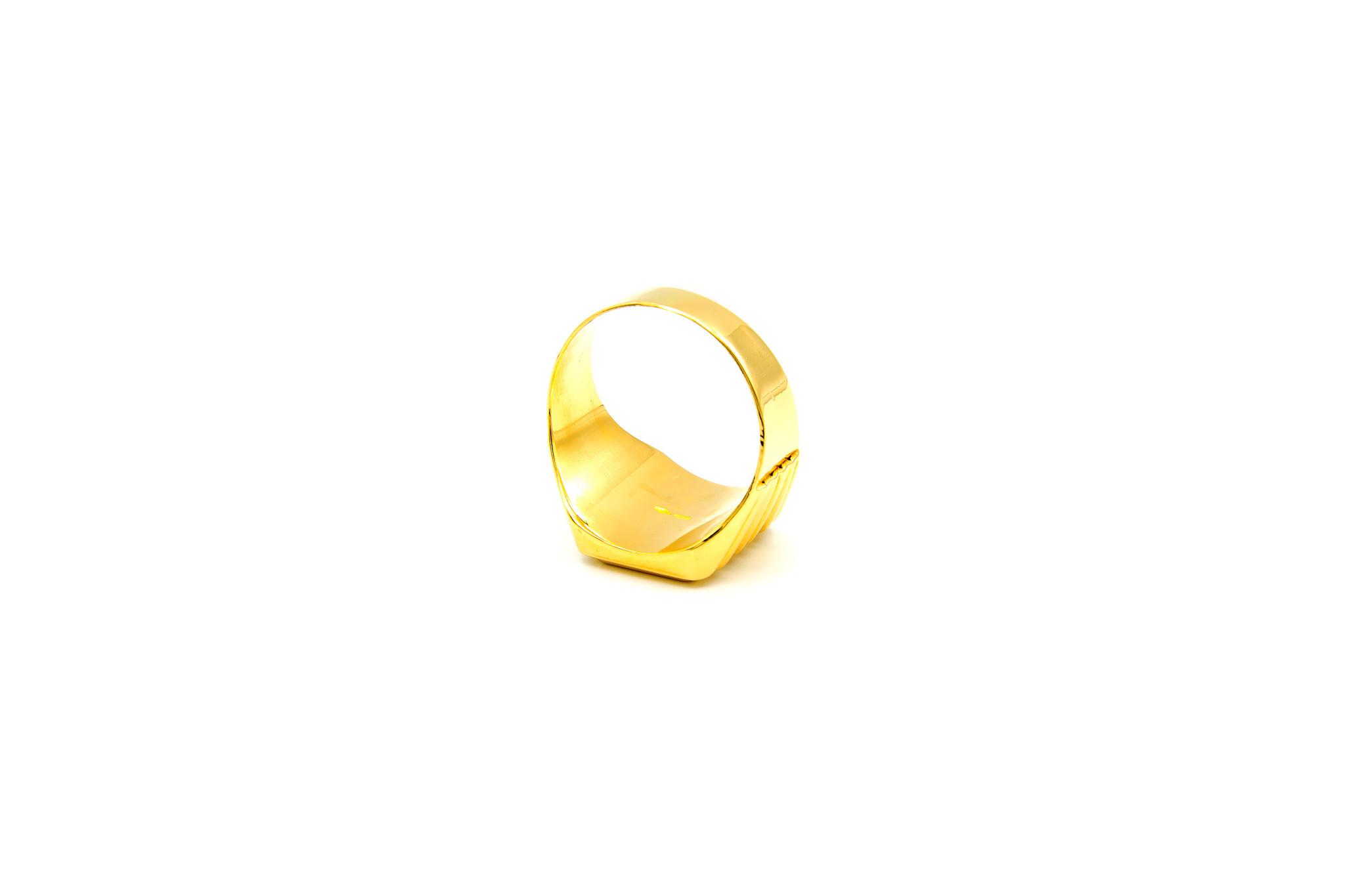 Ring graveerbare zegel met bewerkte band-5