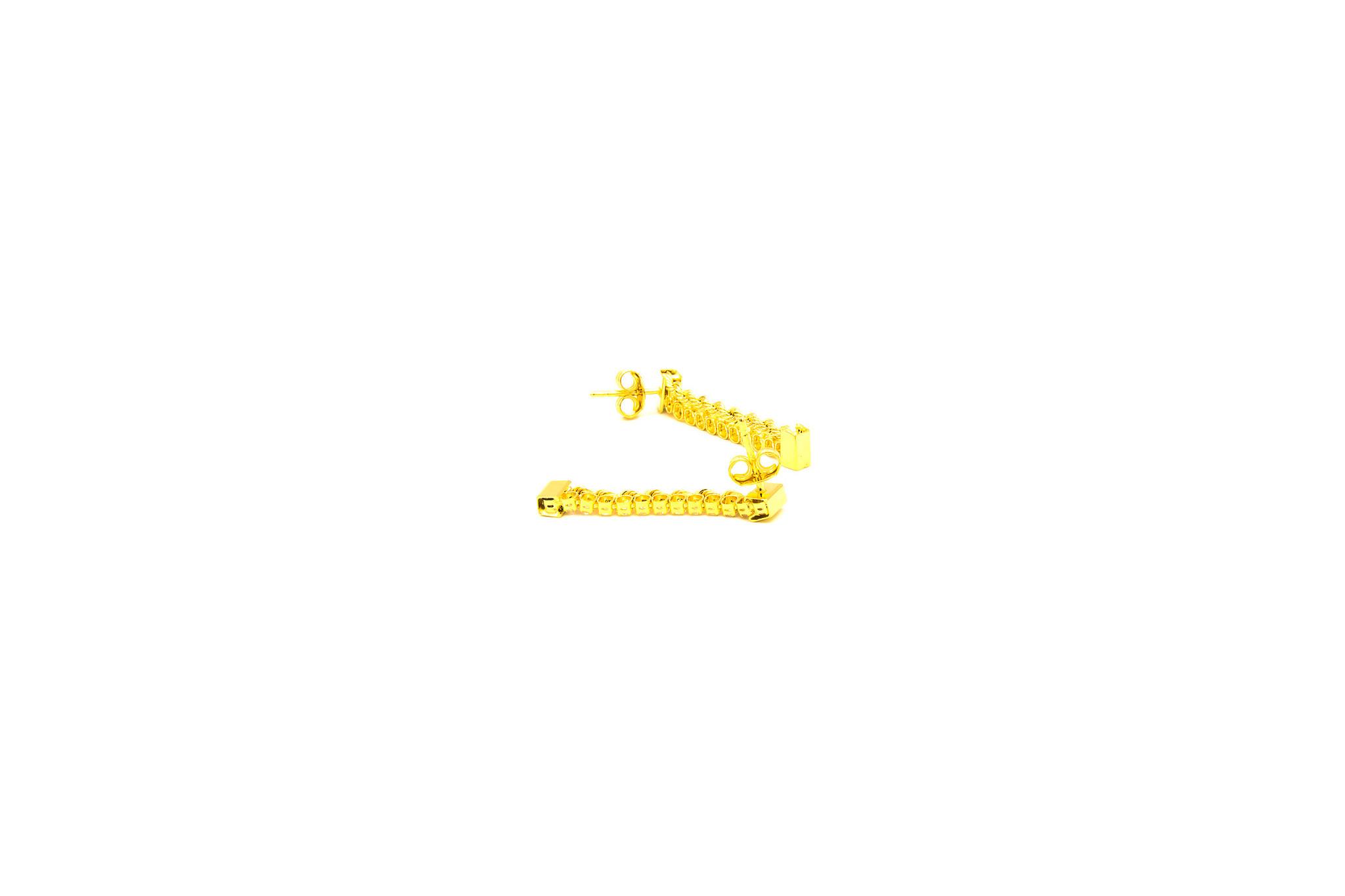 Oorbellen rope chain en tennisschakel-2