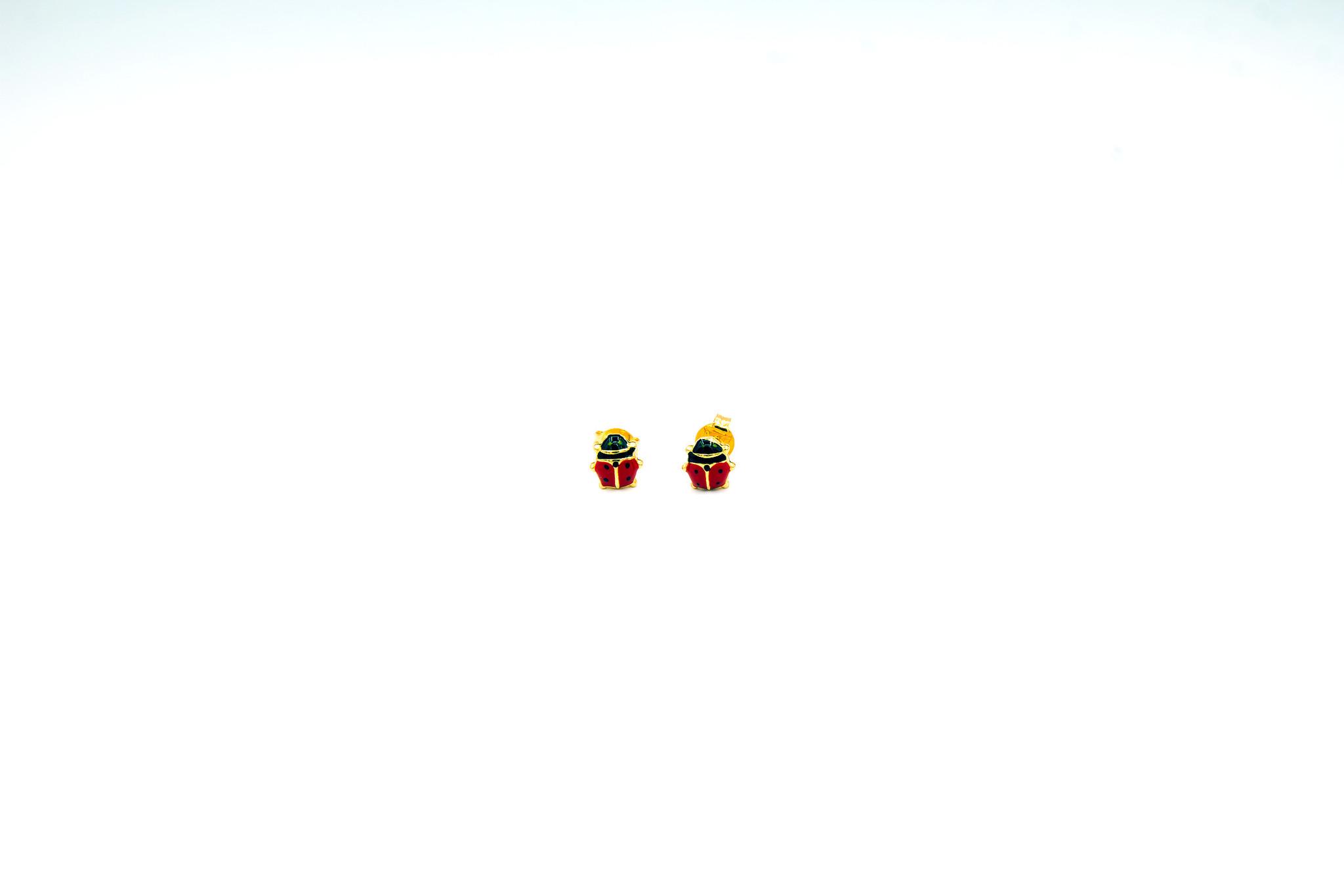 Oorbellen kind lieveheersbeestje-1