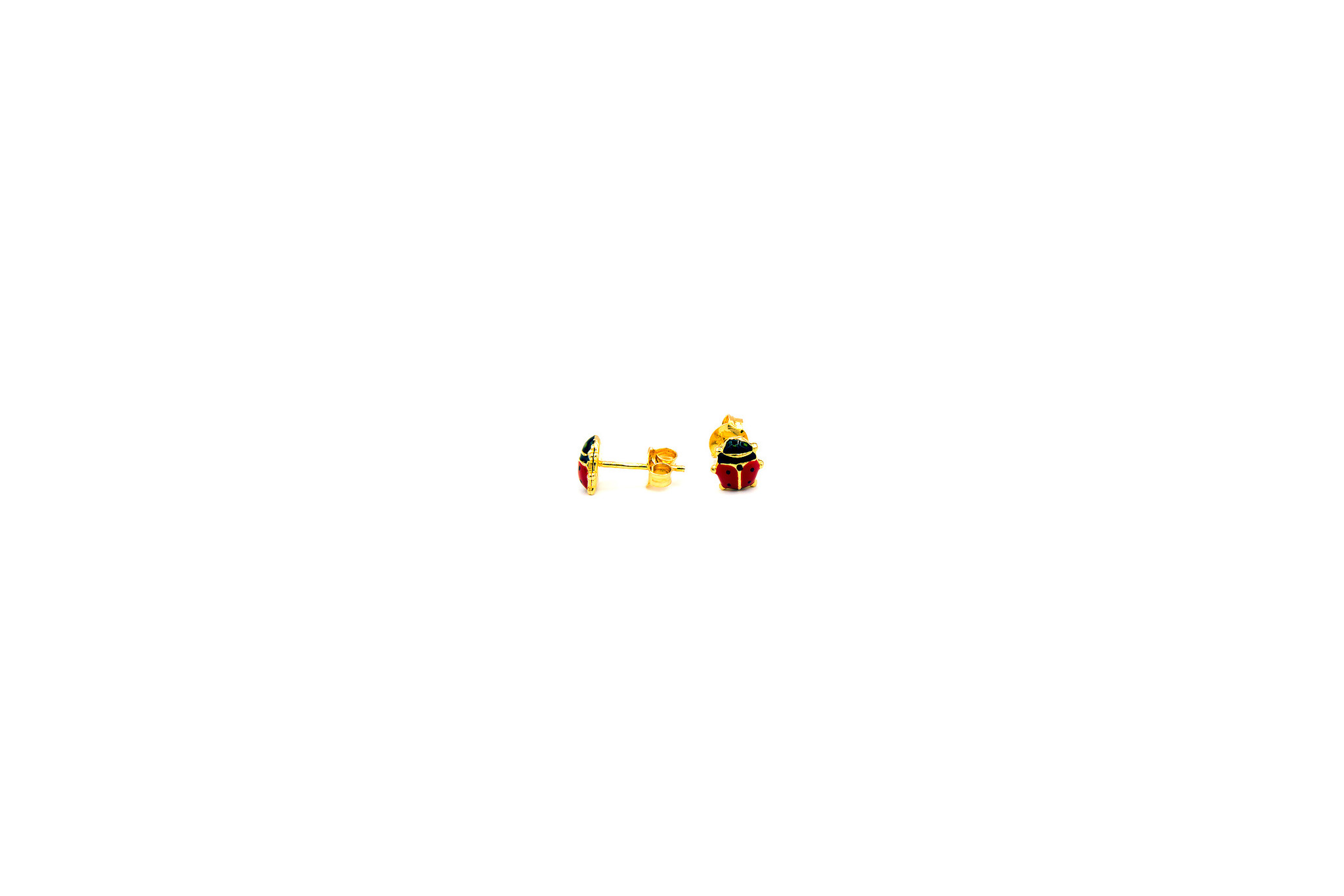 Oorbellen kind lieveheersbeestje-3