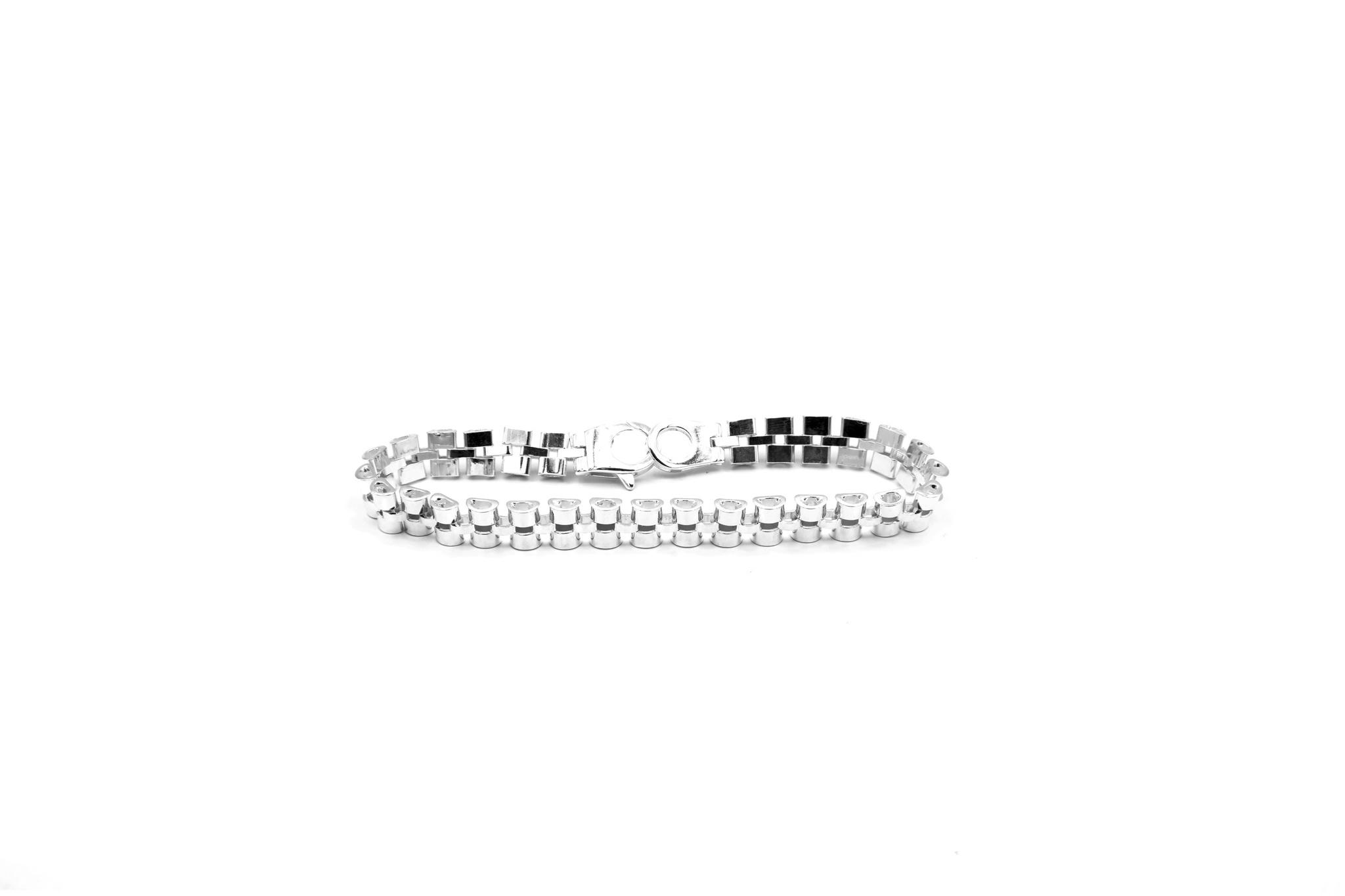 Armband rolexschakel zilver-1