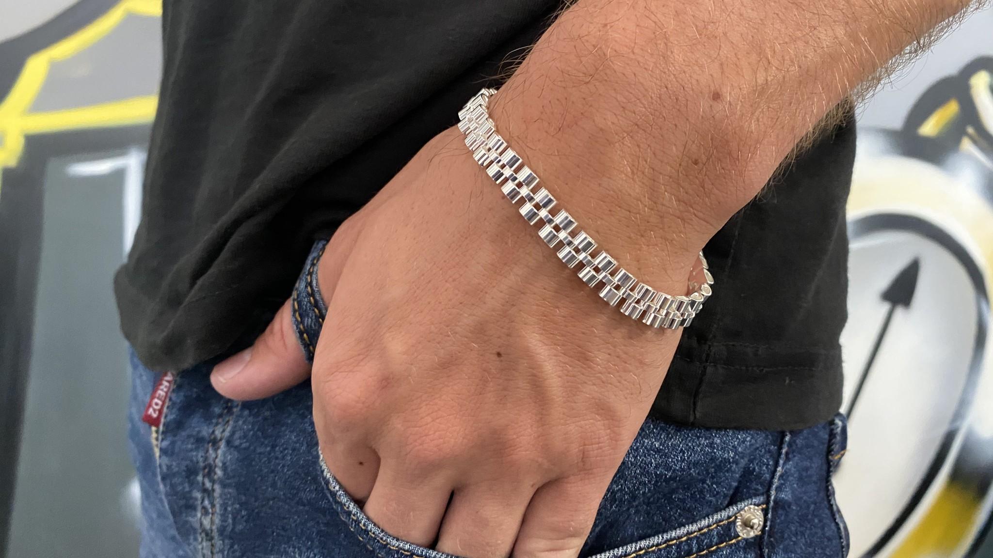 Armband rolexschakel zilver-4