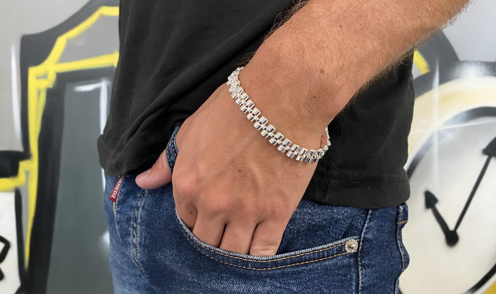Armband rolexschakel zilver-2