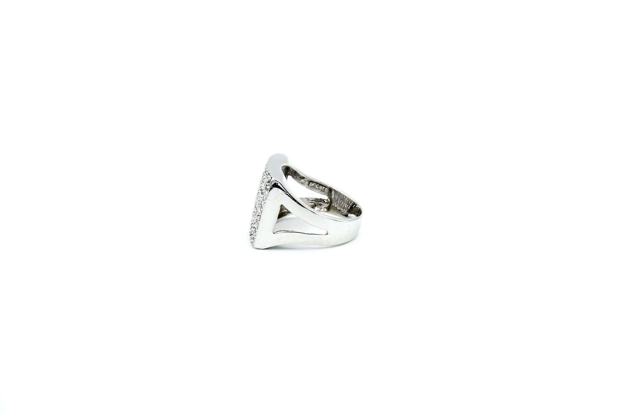 Ring met brede zegel met zirkonia-3