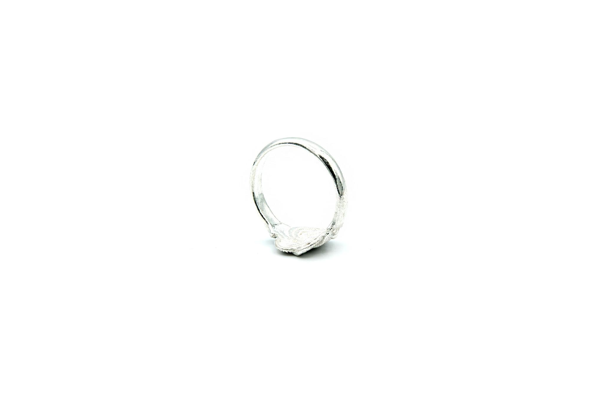 Ring mattenklopper zilver-5