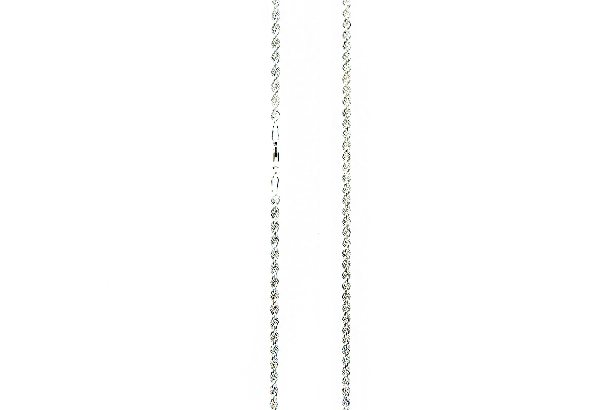 Ketting rope chain zilver 3mm-3