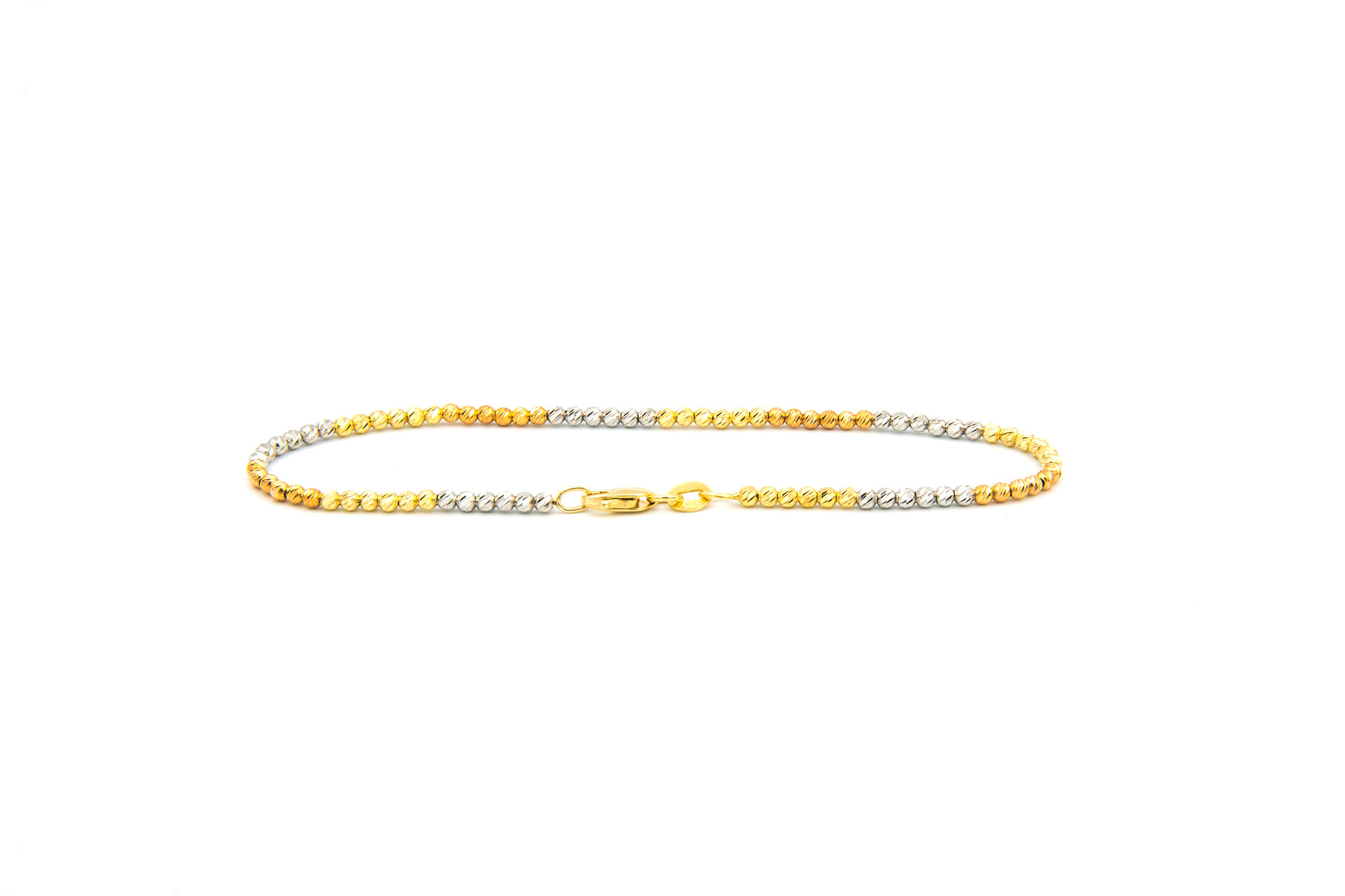 Armband balletjes tricolor diamond cut-3