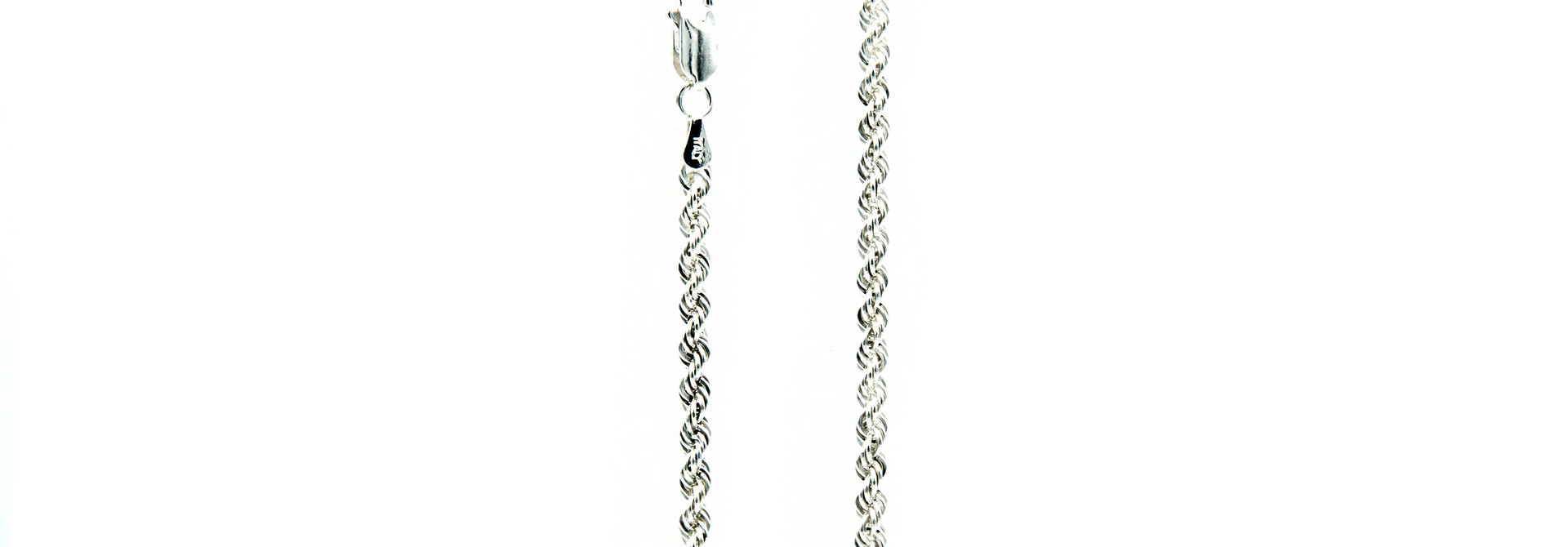 Ketting rope chain zilver