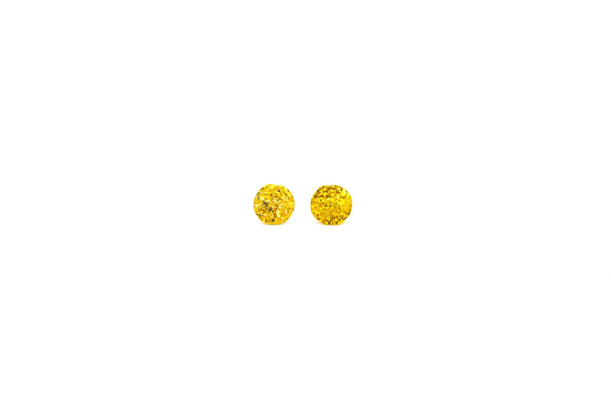 Piet Piet oorbellen stekers rond 14k-1