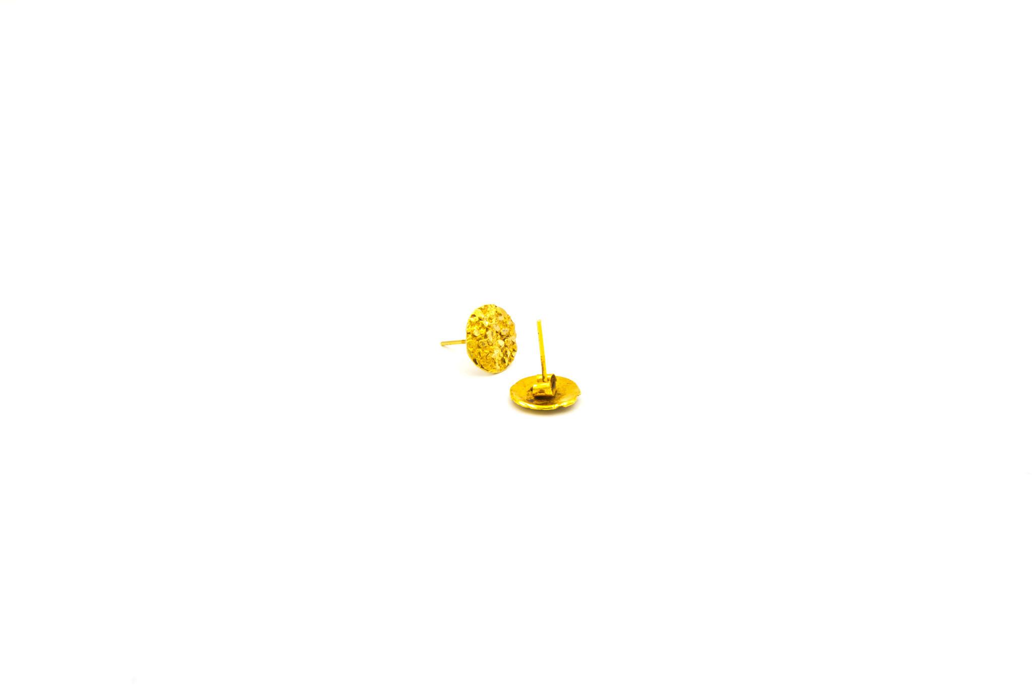 Piet Piet oorbellen stekers rond 14k-3