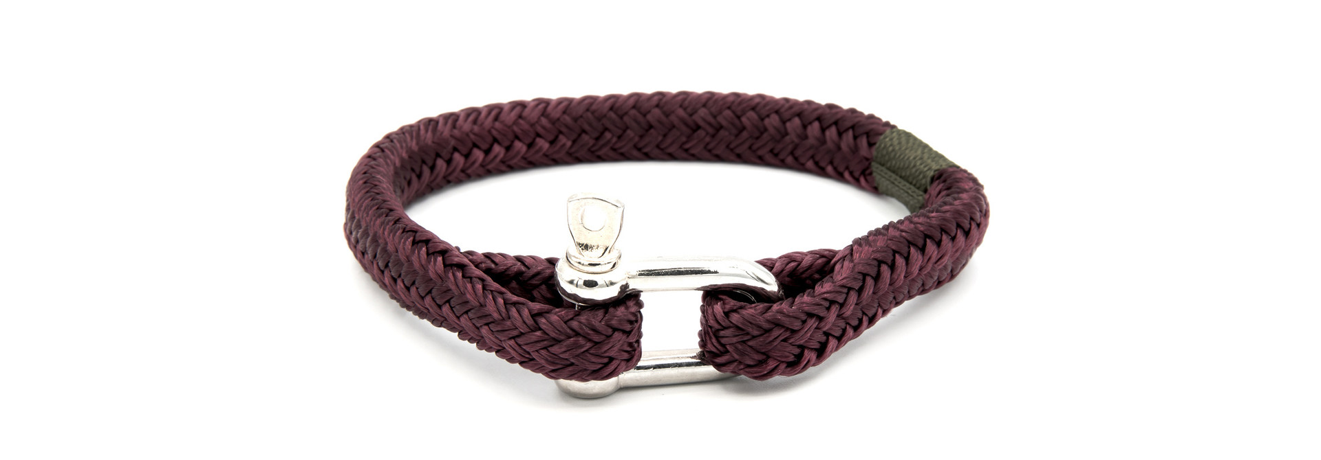 Armband marinekoord met shackle