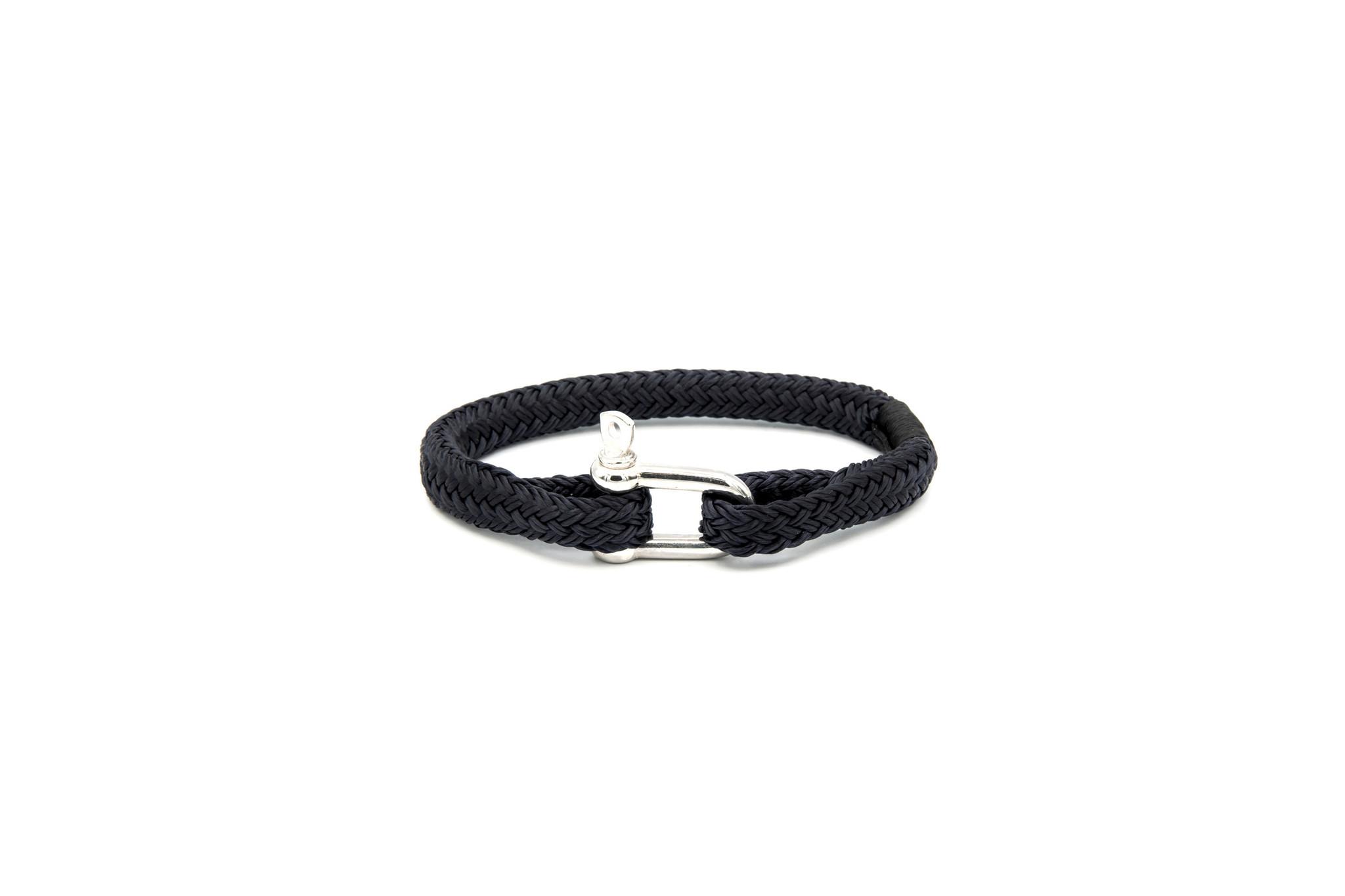 Armband marinekoord met shackle-2